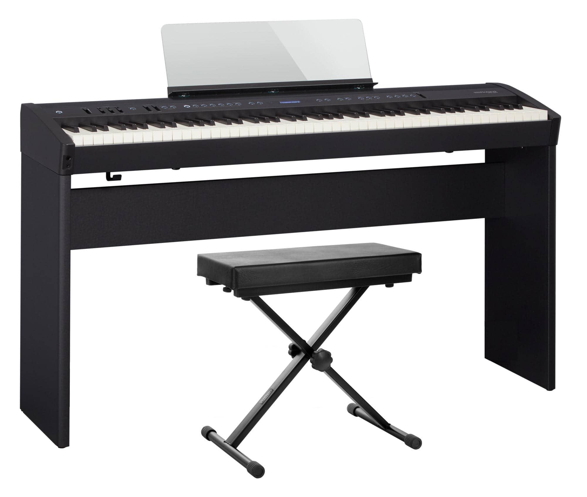 Roland FP 60 BK Stagepiano schwarz Set inkl. Ständer und Bank