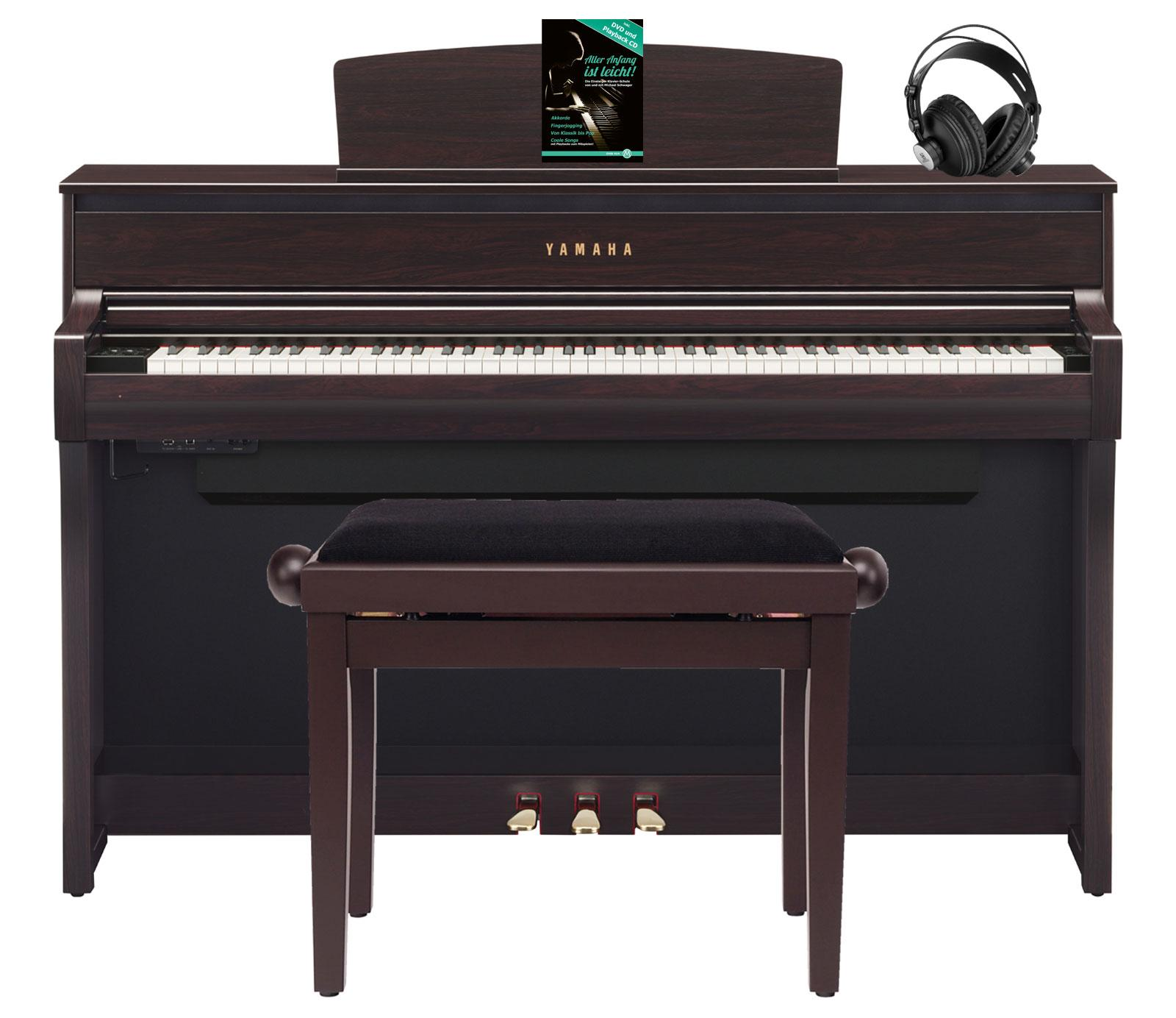 Yamaha clp 675 r digitalpiano rosenholz set mit kopfh rer for Yamaha digital piano clp 535