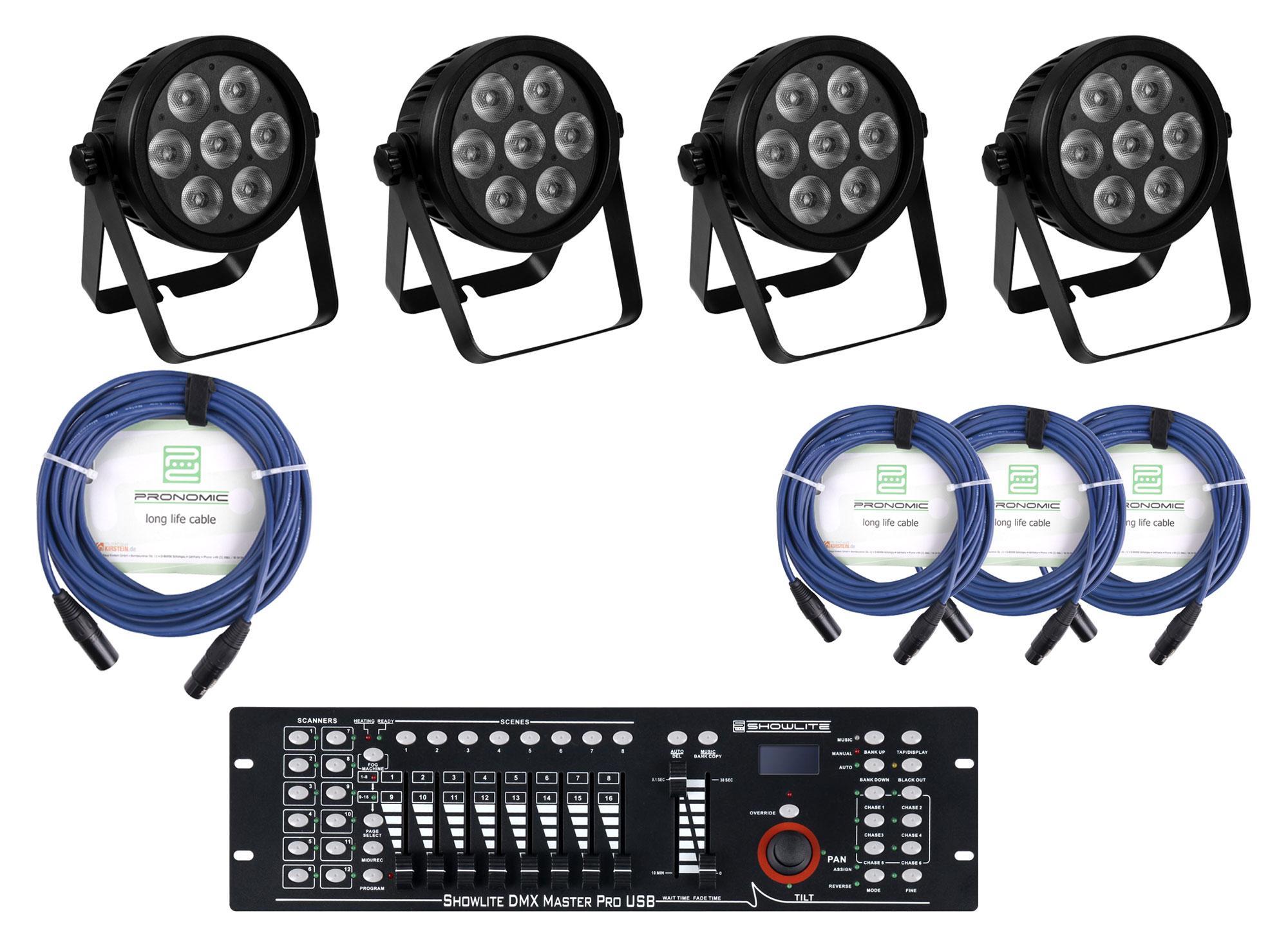 Lichtsets - Eurolite LED 7C 7 Silent Slim Spot Controller Set - Onlineshop Musikhaus Kirstein