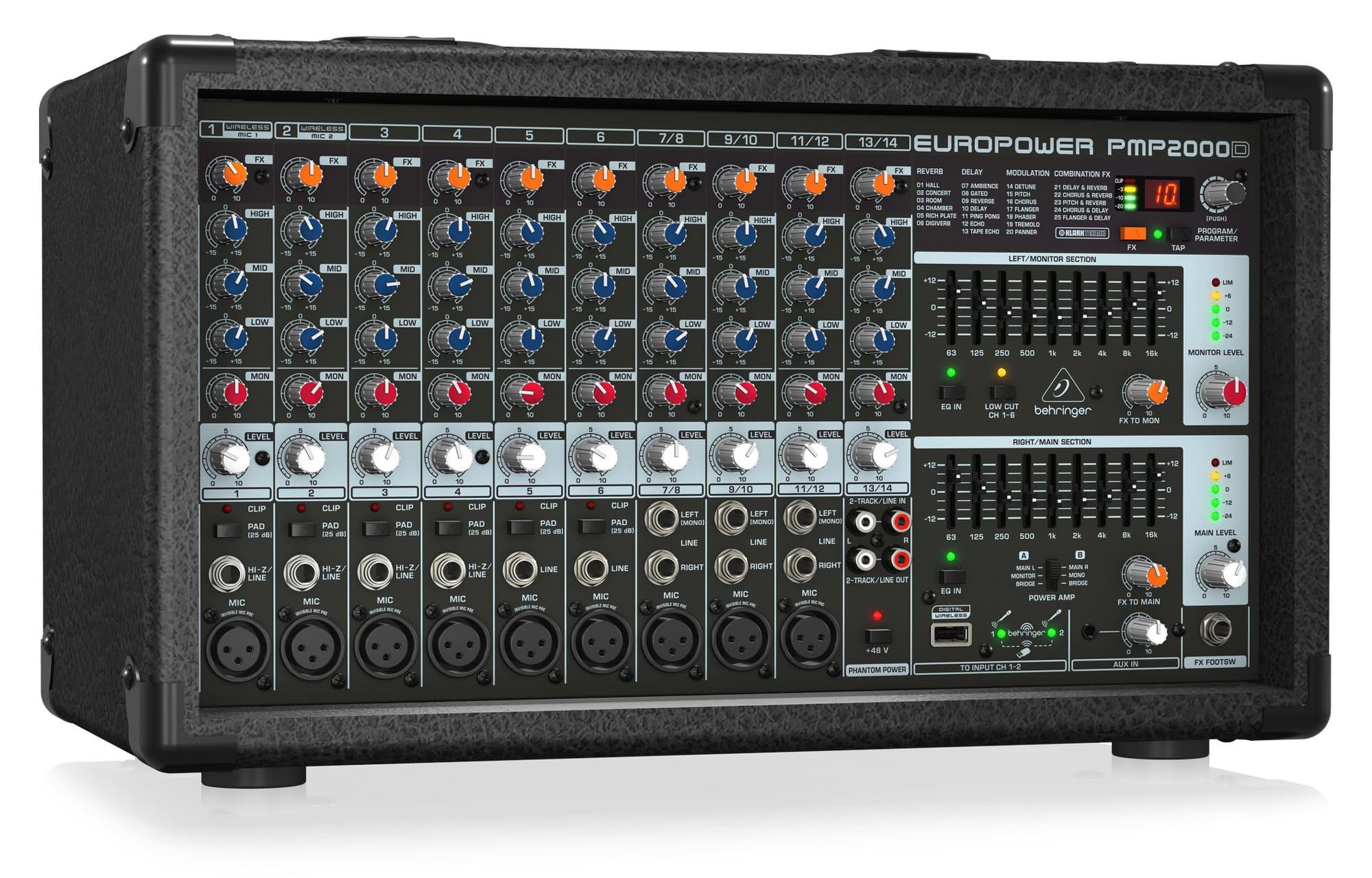Mischpulte - Behringer PMP2000D Powermixer - Onlineshop Musikhaus Kirstein