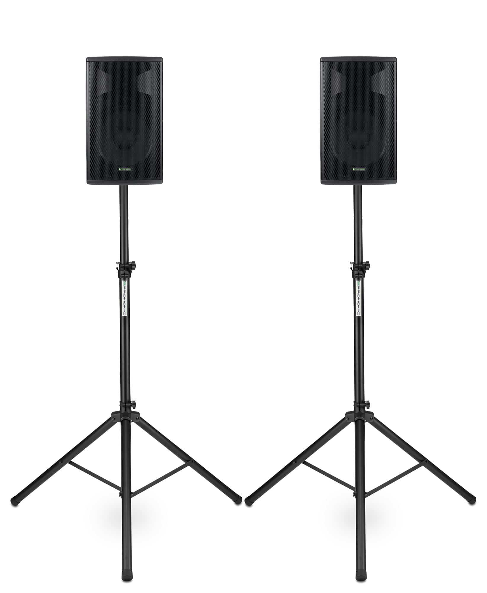 Paboxen - Pronomic E 210 MA 10 Aktivbox 400 Watt Stativ Set - Onlineshop Musikhaus Kirstein