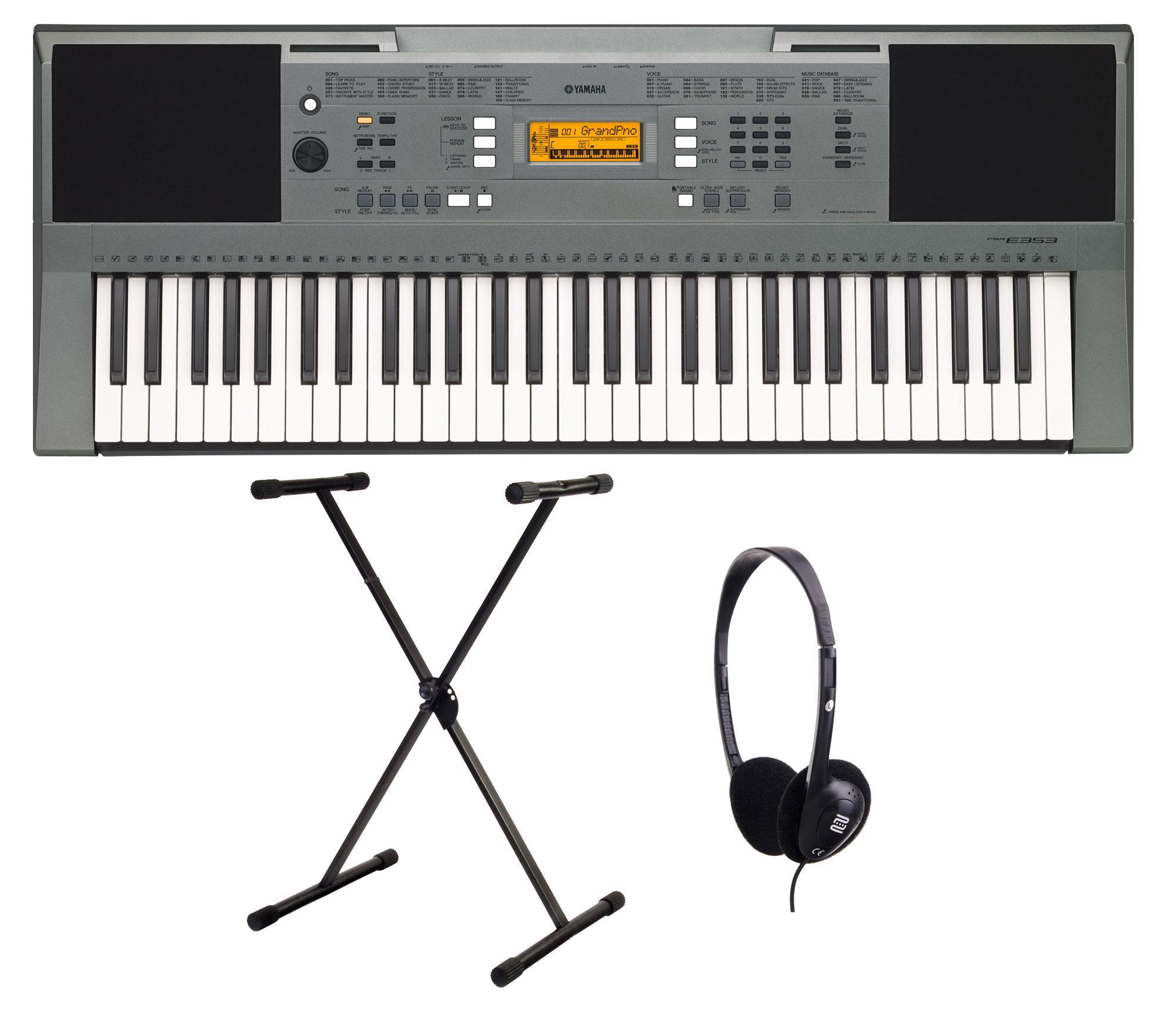 Yamaha PSR E353 Keyboard SET inkl. Ständer und Kopfhörer PSR-E353 Set