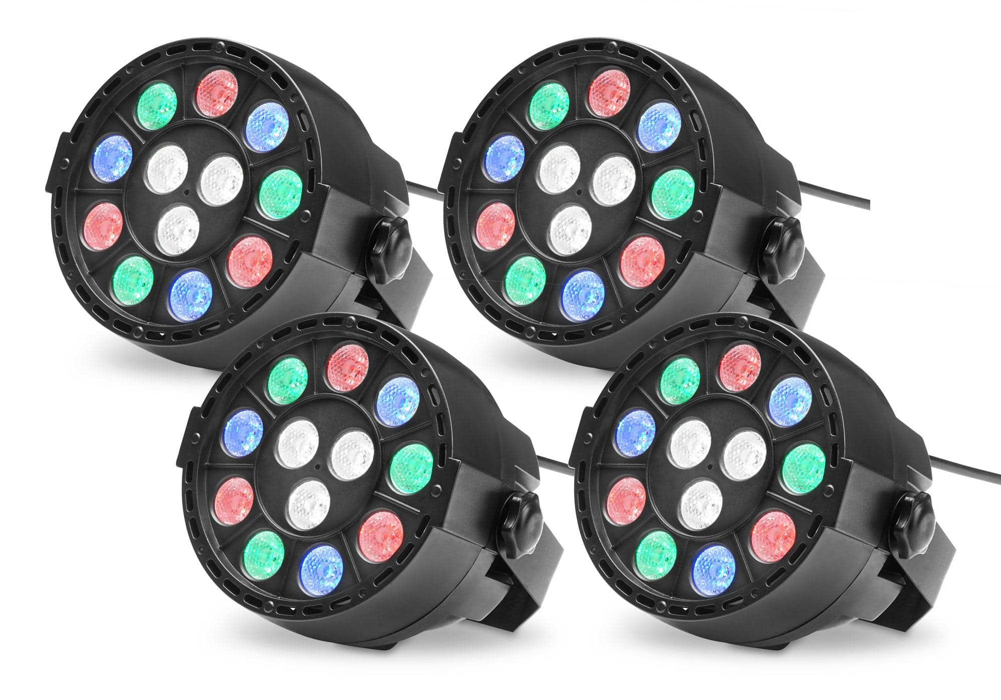 Showlite SPS 121 LED Smart Party Spot 12x 1W RGBW 4er Set