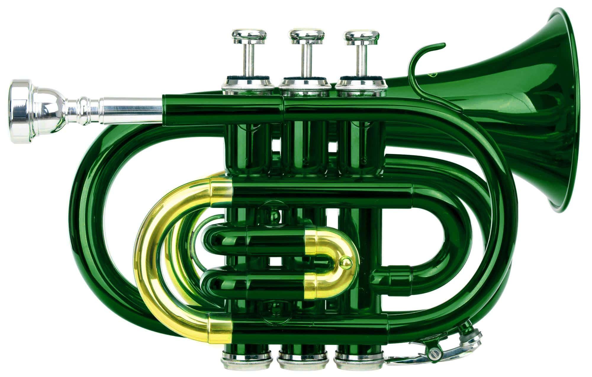 Trompeten - Classic Cantabile Brass TT 400 Bb Taschentrompete grün - Onlineshop Musikhaus Kirstein