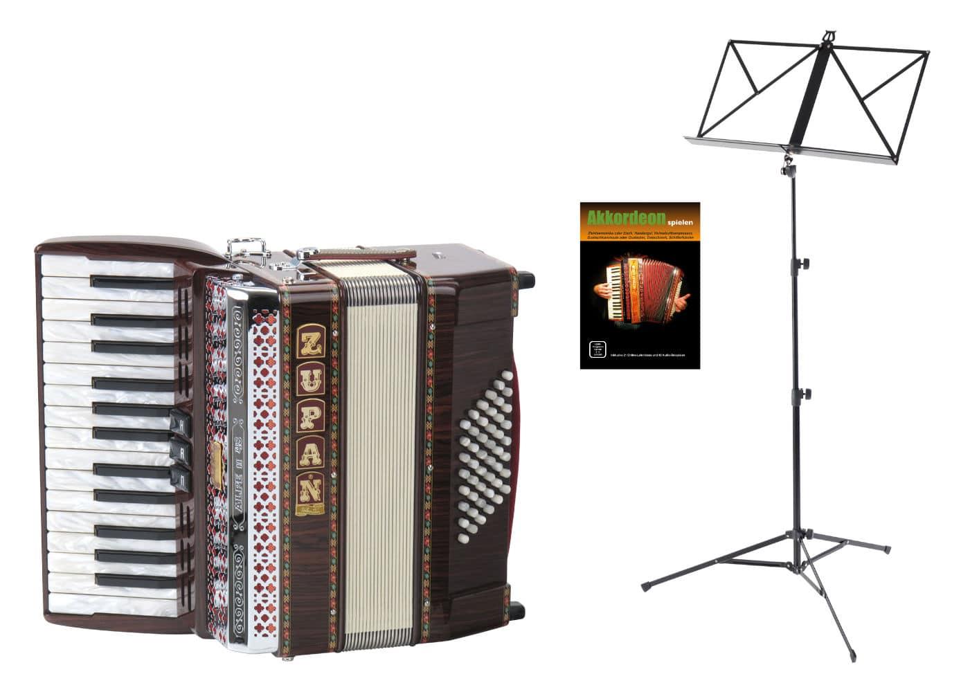 Akkordeons - Zupan Alpe II 48 Akkordeon Set Palisander - Onlineshop Musikhaus Kirstein