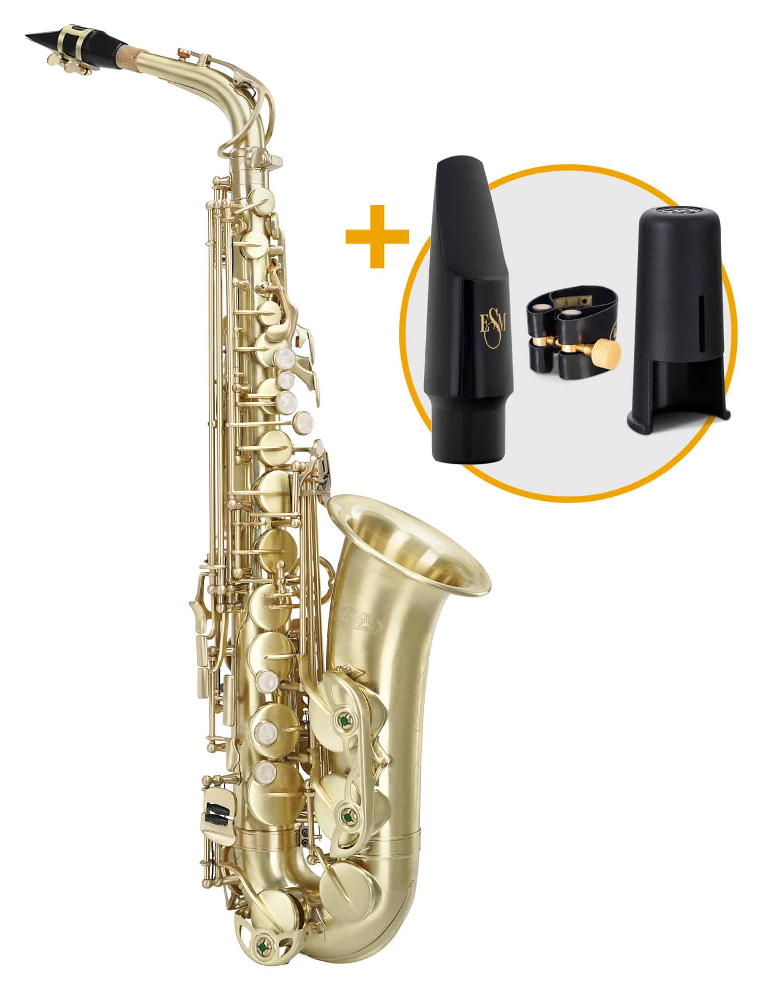Saxophone - Classic Cantabile Winds AS 450 Brushed Altsaxophon ESM Set - Onlineshop Musikhaus Kirstein