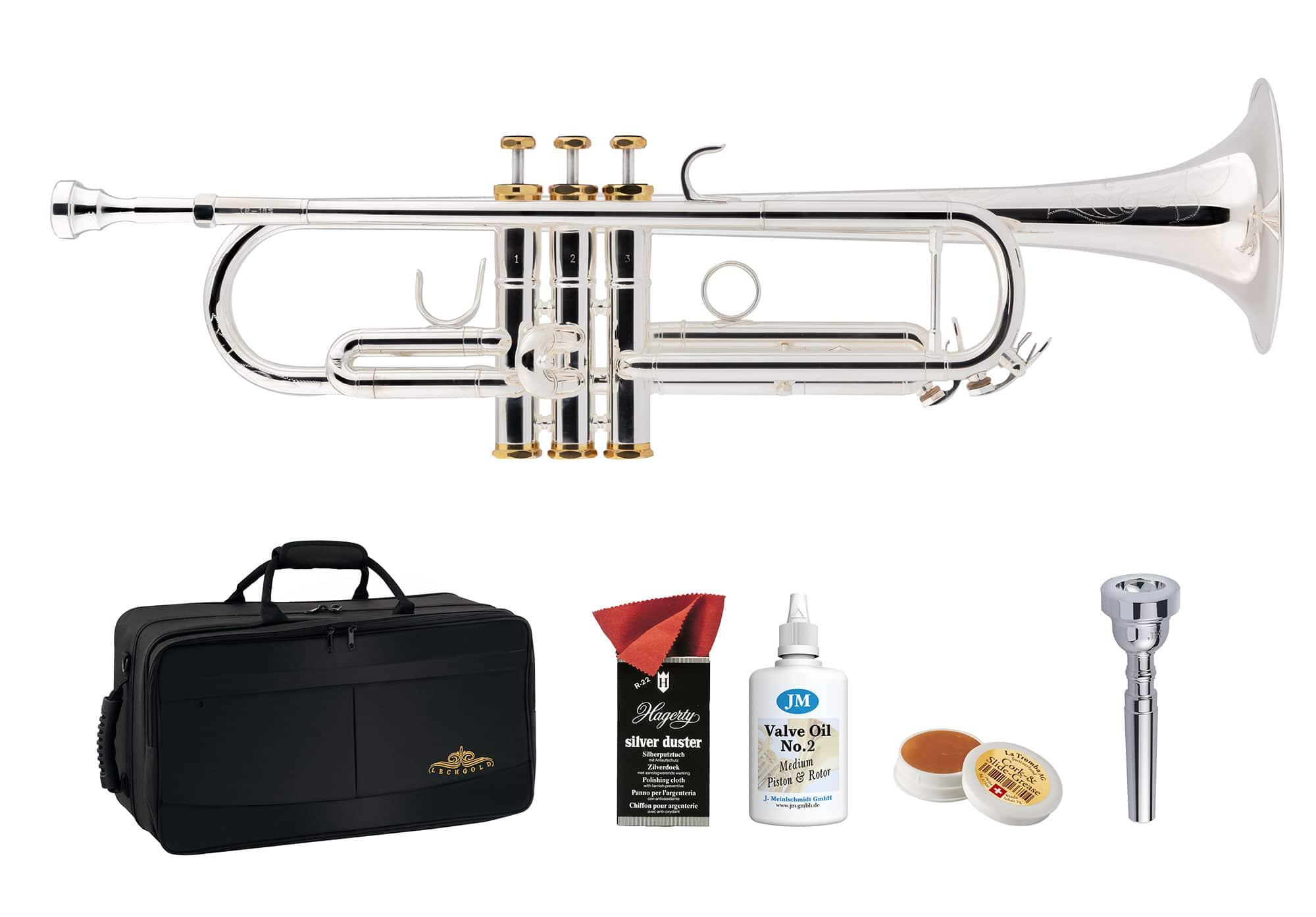 Trompeten - Lechgold TR 18S Bb Trompete versilbert Deluxe Set - Onlineshop Musikhaus Kirstein