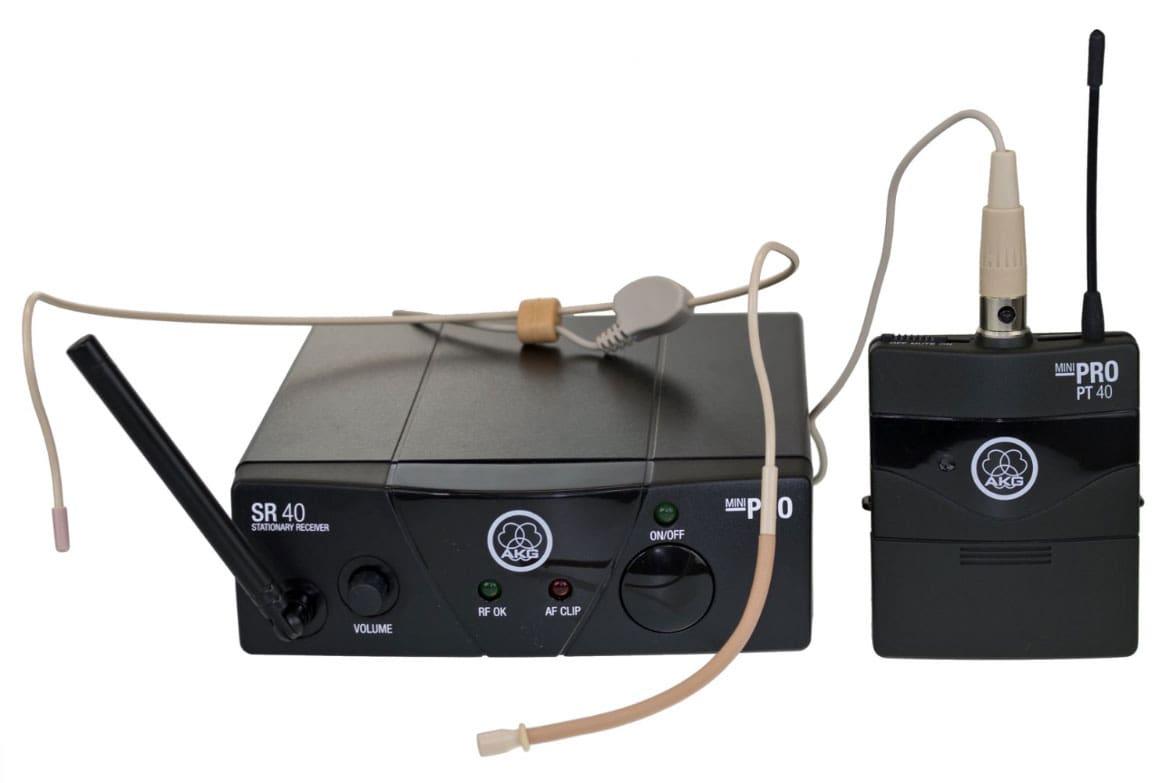 Drahtlossysteme - AKG WMS 40 Mini Sport Funk Headset ISM2 864,375 MHz - Onlineshop Musikhaus Kirstein