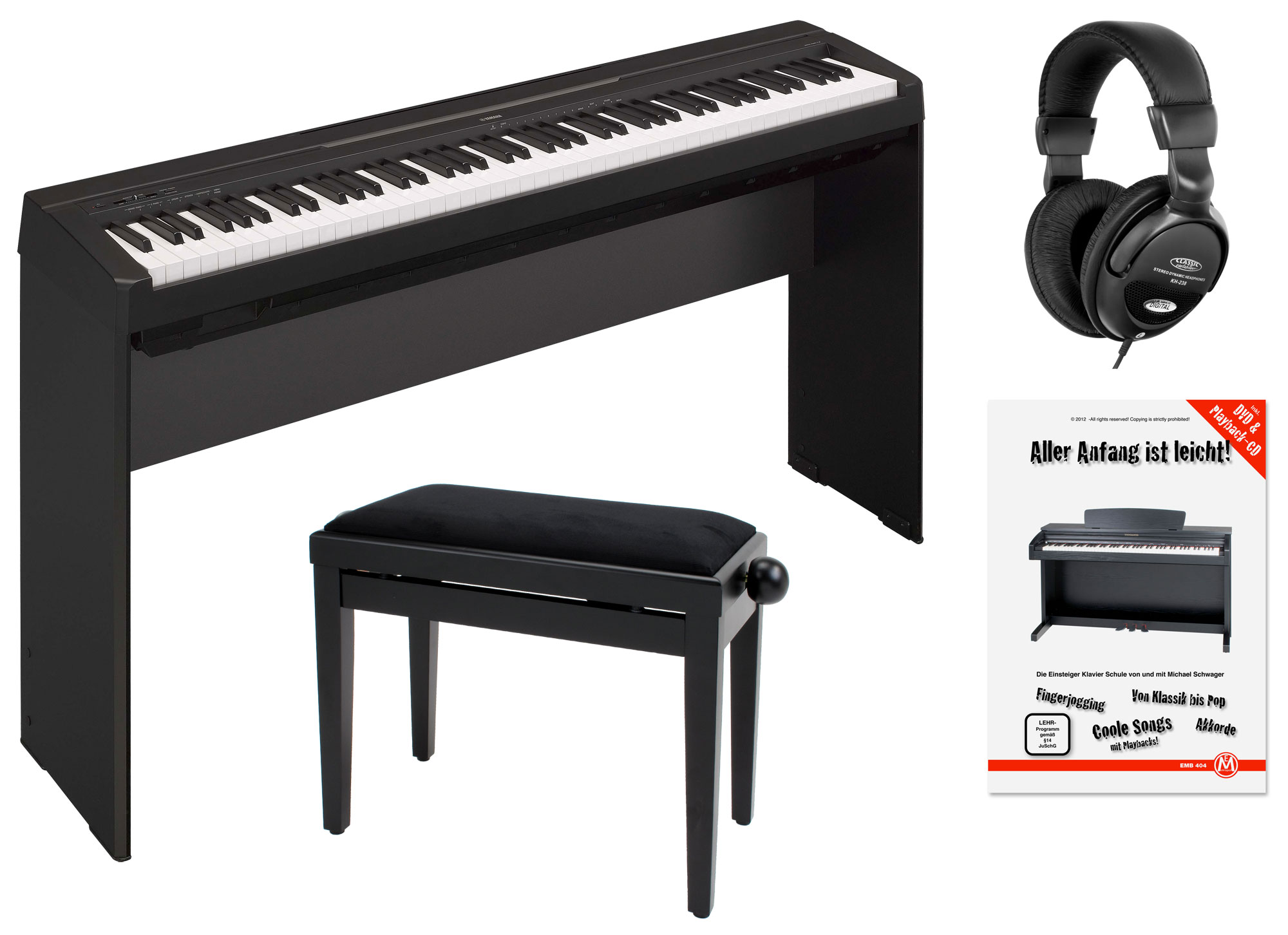 yamaha p 35b stagepiano black home komplettset. Black Bedroom Furniture Sets. Home Design Ideas