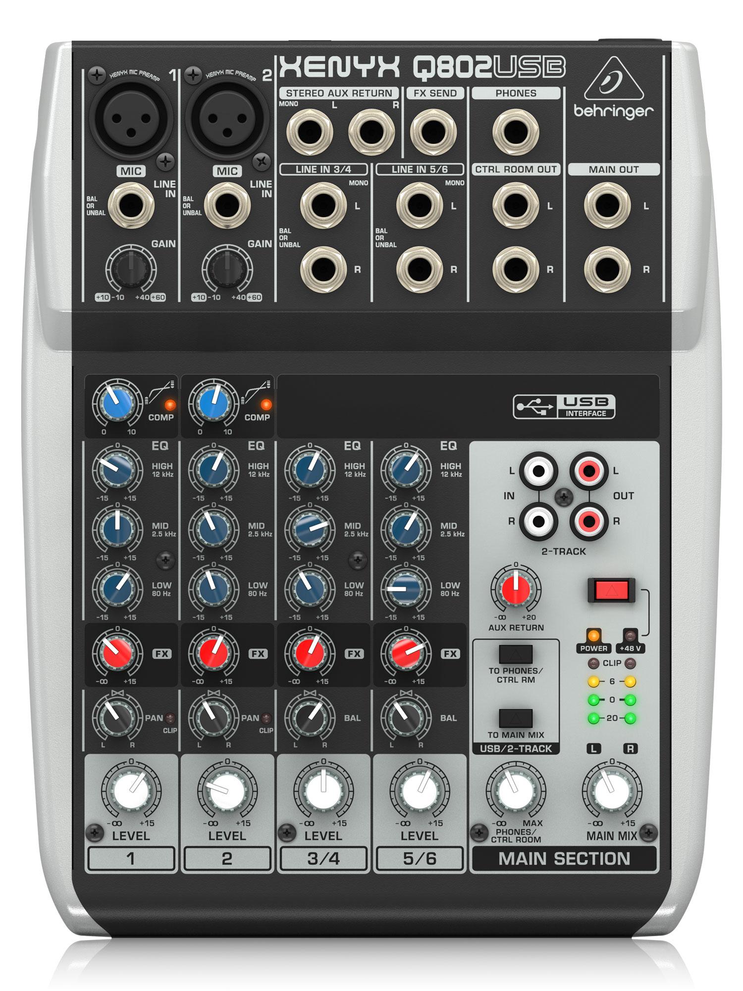 Mischpulte - Behringer Xenyx Q802 USB Mischpult - Onlineshop Musikhaus Kirstein