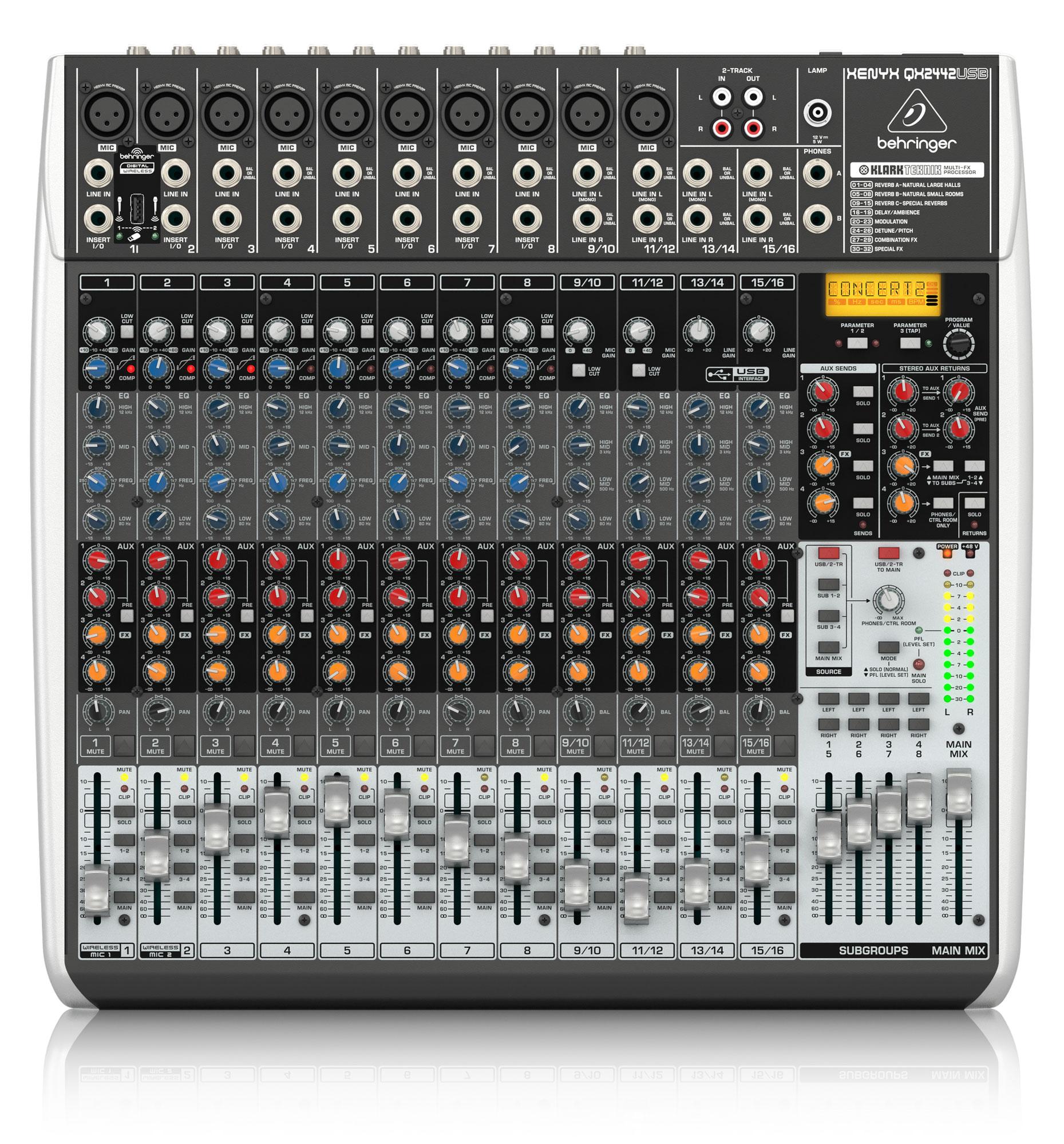 Mischpulte - Behringer XENYX QX2442 USB Mischpult - Onlineshop Musikhaus Kirstein