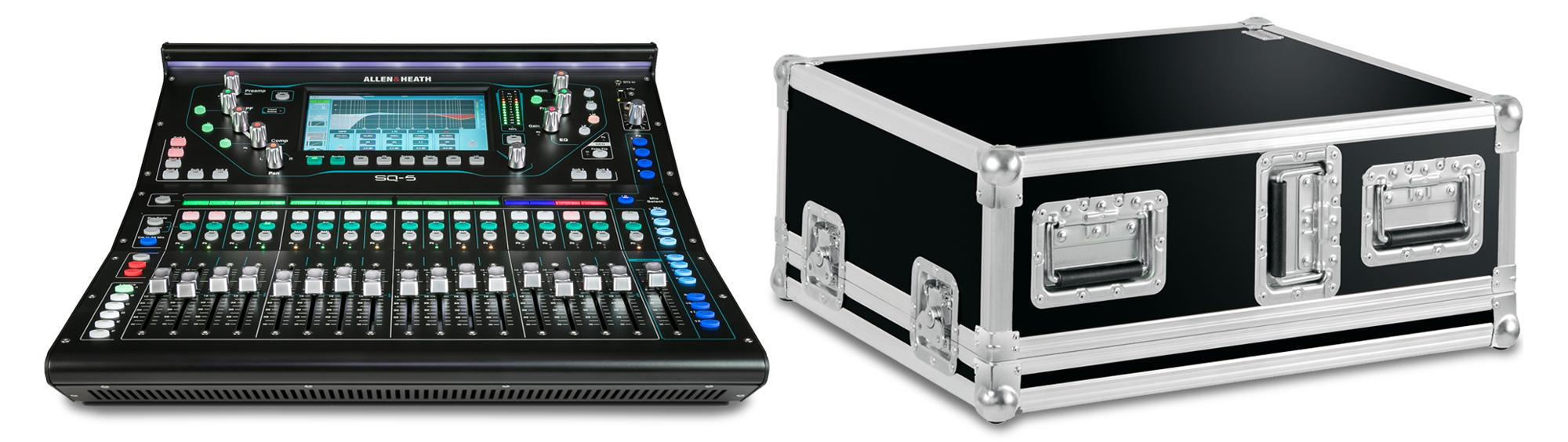 Allen Heath SQ 5 Digital Mischpult Set mit Case