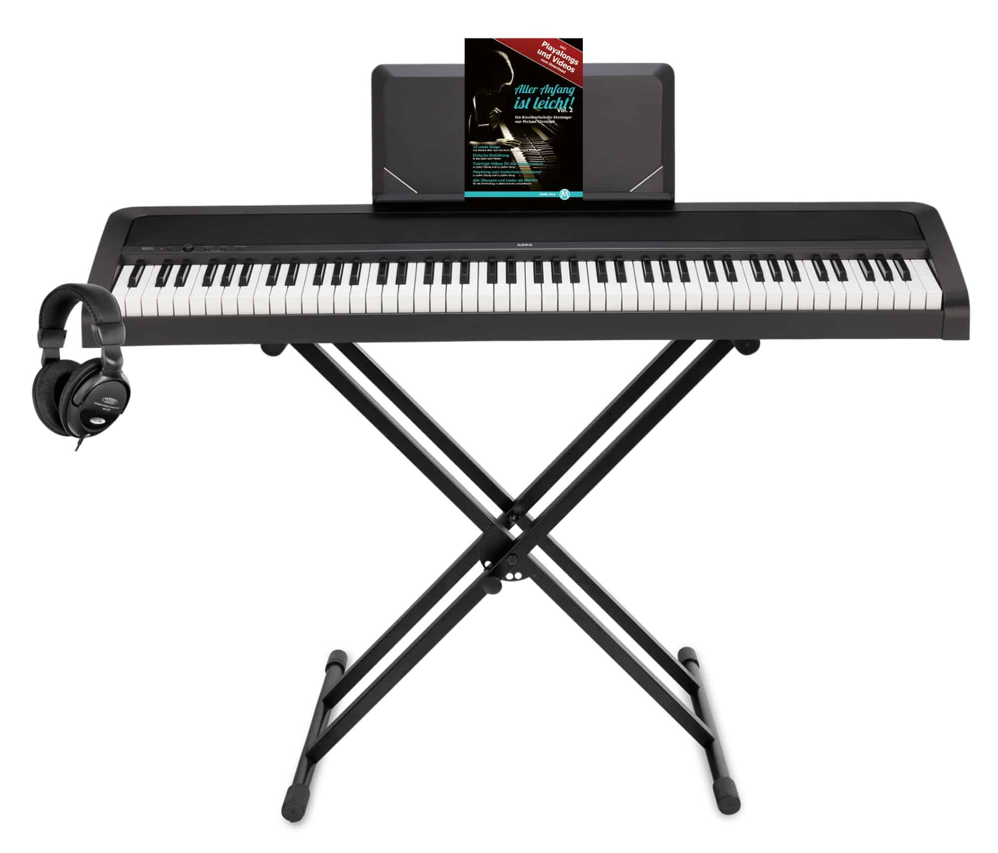 Stagepianos - Korg B2N Digitalpiano Set Schwarz - Onlineshop Musikhaus Kirstein