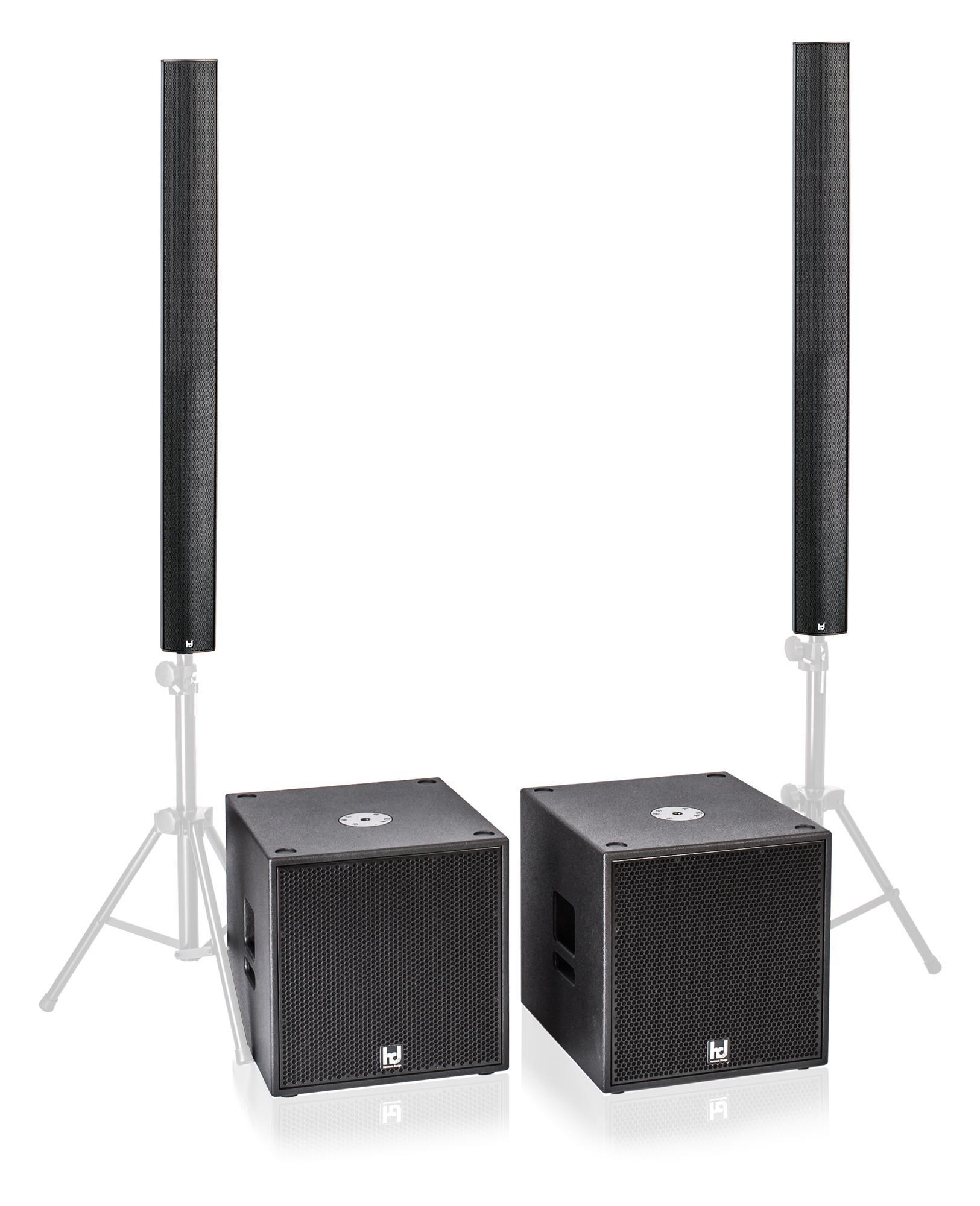 Harmonic Design PL12|P15 PA1 Multi DSP Aktivsystem 3700 Watt