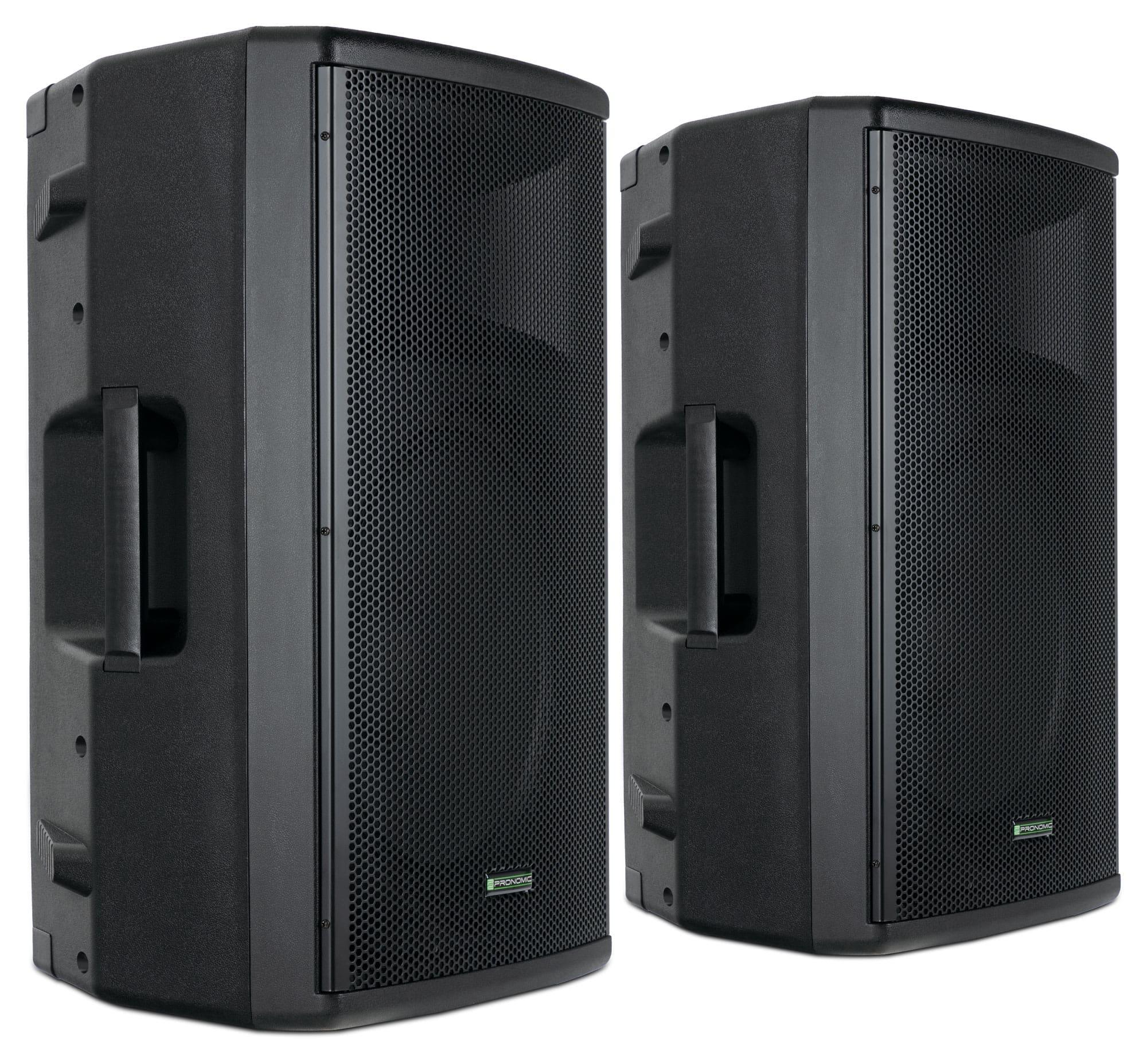 Paboxen - Pronomic E 215 MA 15 Aktivbox 500 Watt Stereo Set - Onlineshop Musikhaus Kirstein