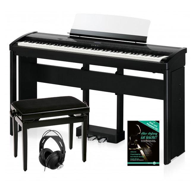 Kawai ES 8 B Stagepiano Schwarz Deluxe SET inkl. Ständer, Pedal, Bank, Kopfhörer und Schule