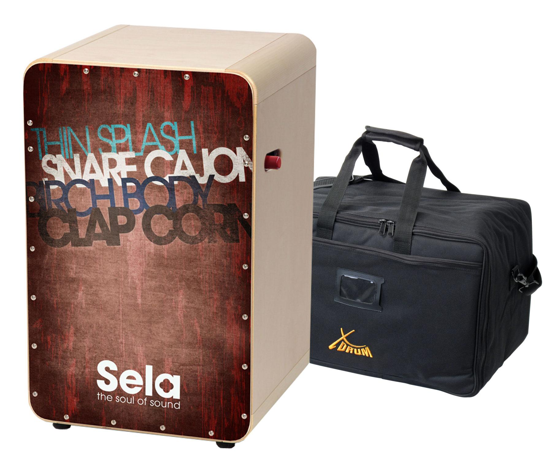 Sela SE 080 CaSela Pro Vintage Red SET incl. Cajontasche