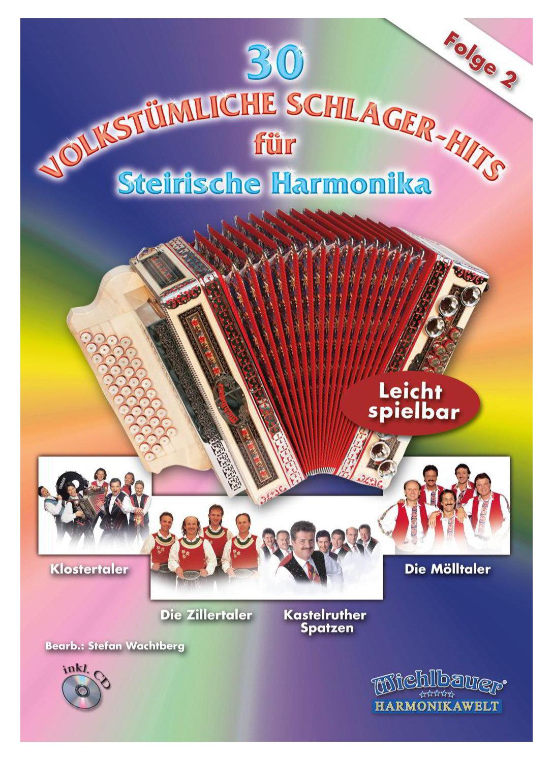 Akkordeonlernen - 30 Volkstümliche Schlager Hits, Folge 2 - Onlineshop Musikhaus Kirstein