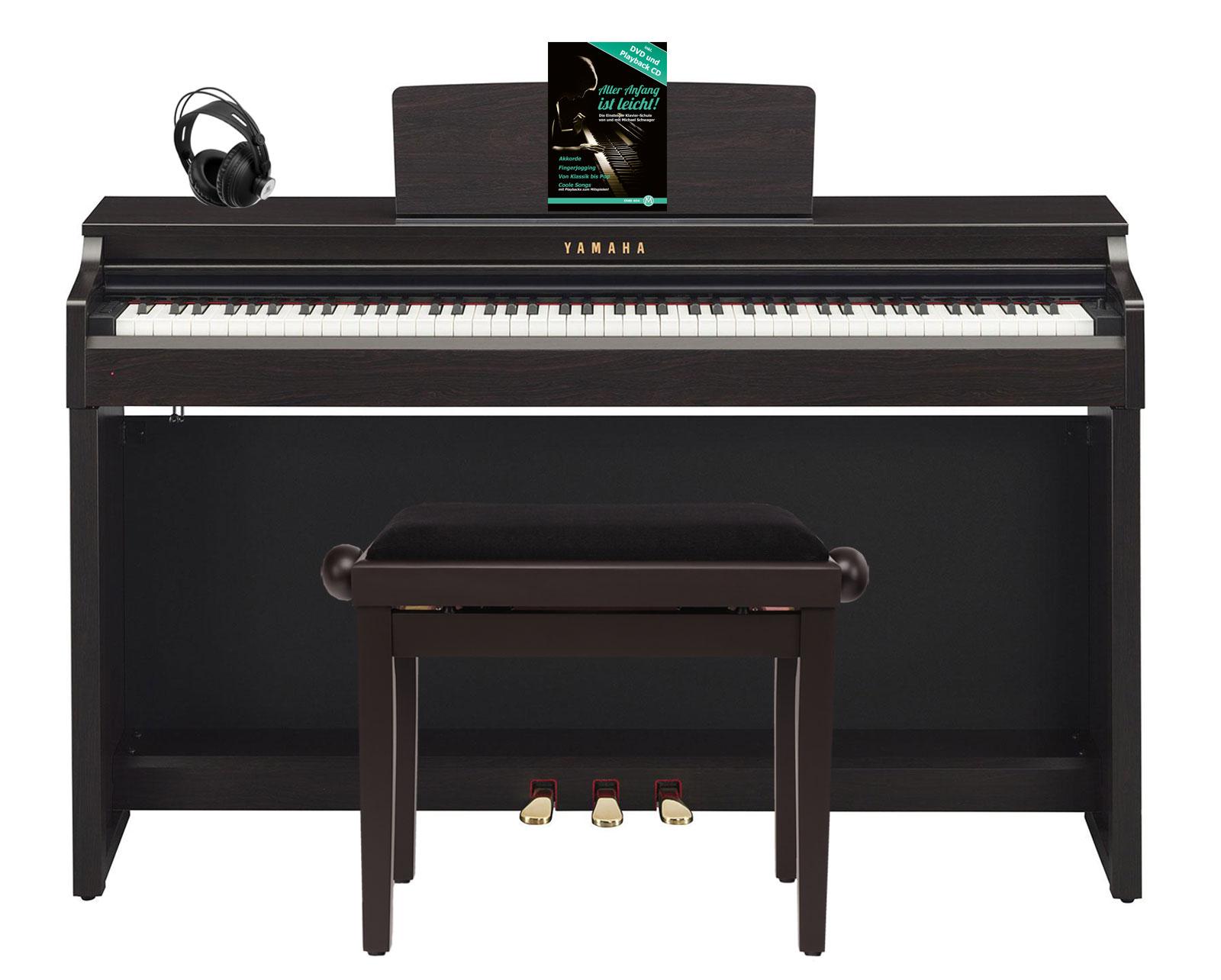Yamaha clp 625 r digitalpiano rosenholz set mit kopfh rer for Yamaha clp 625