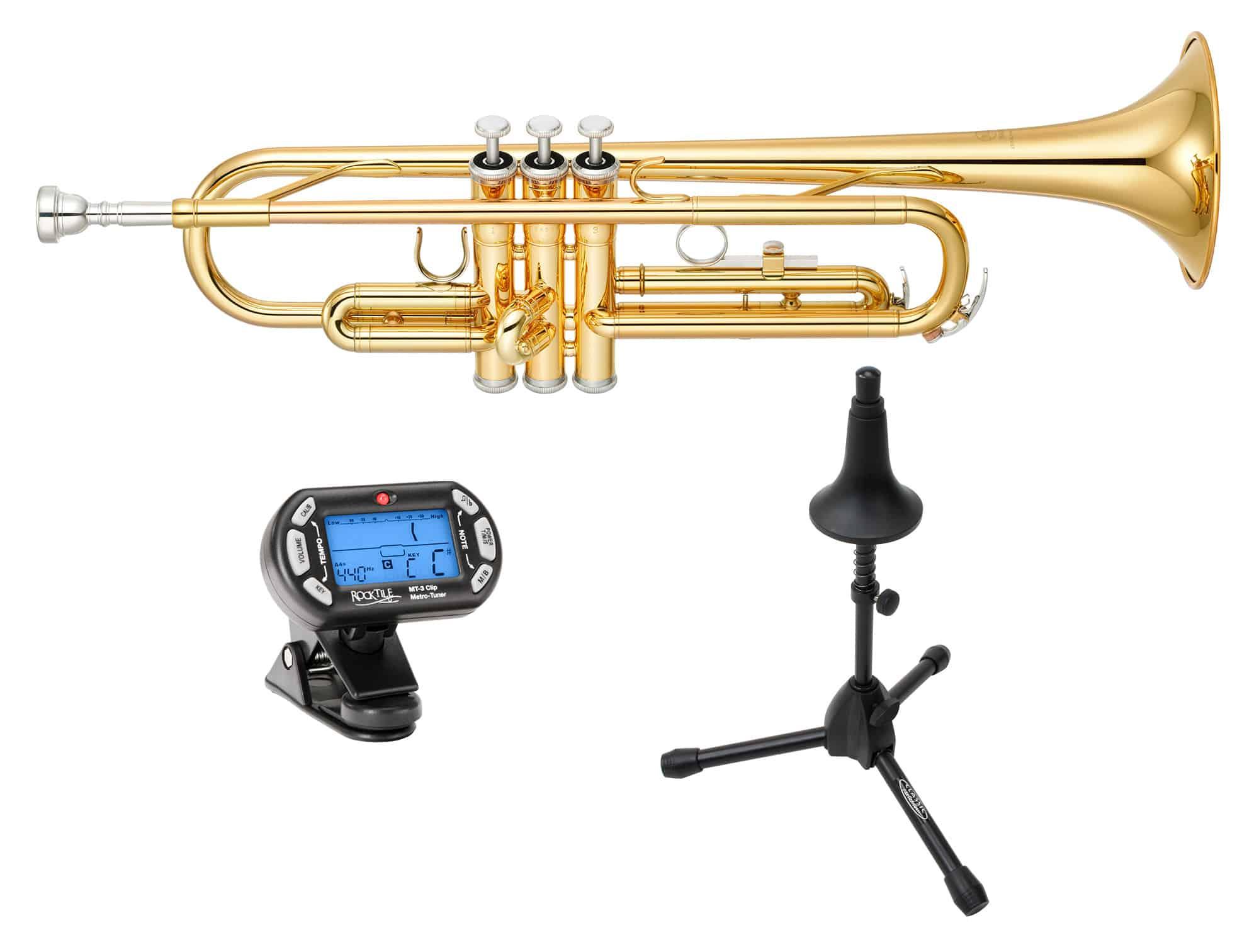 Trompeten - Yamaha YTR 2330 Trompete SET inkl. Ständer Stimmgerät - Onlineshop Musikhaus Kirstein