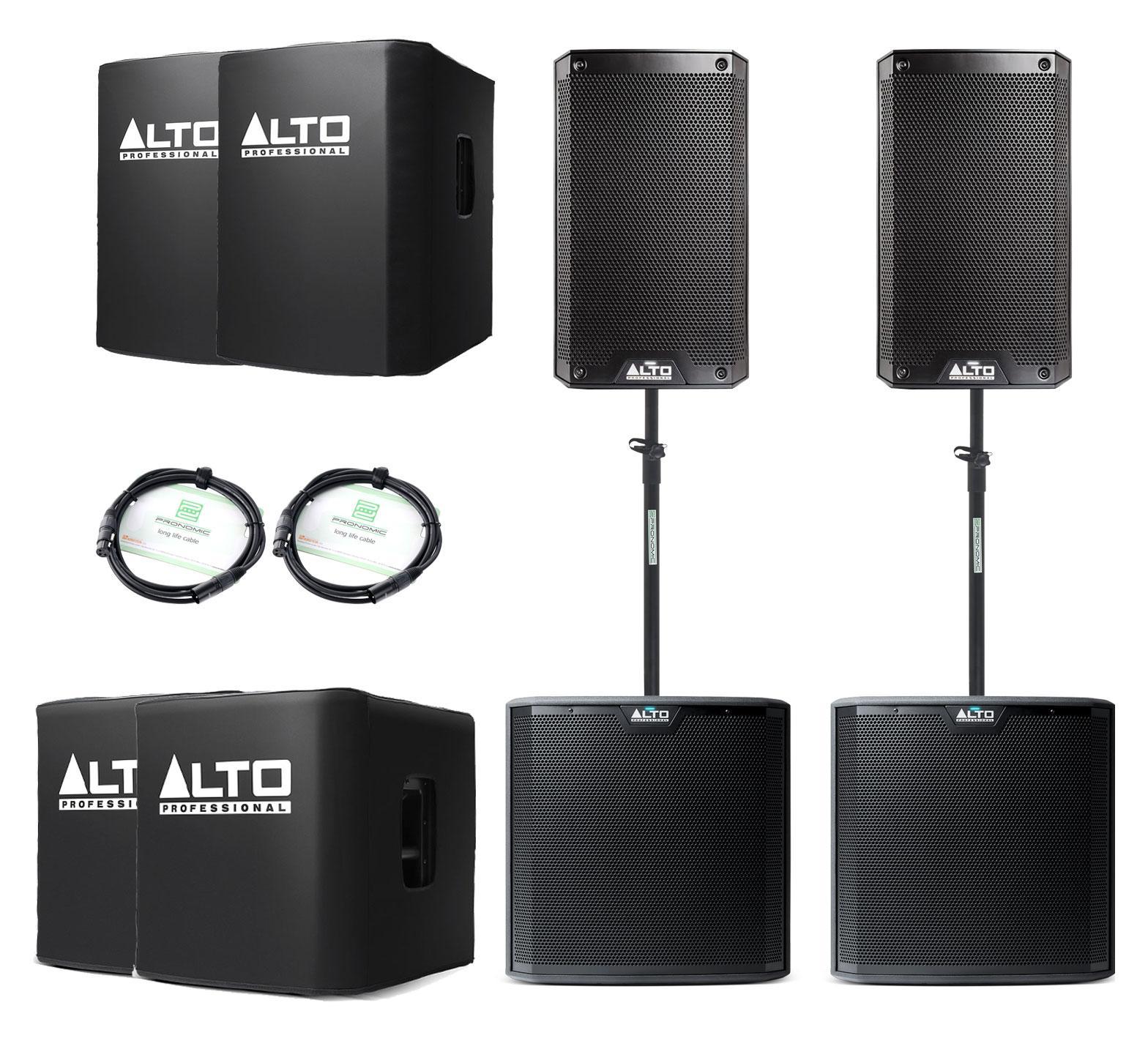 Alto TS208 TS212S Aktivanlagen Set inkl. Zubehör