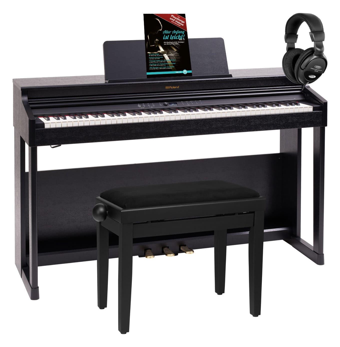 Digitalpianos - Roland RP701 CB Digitalpiano Schwarz Home Set - Onlineshop Musikhaus Kirstein