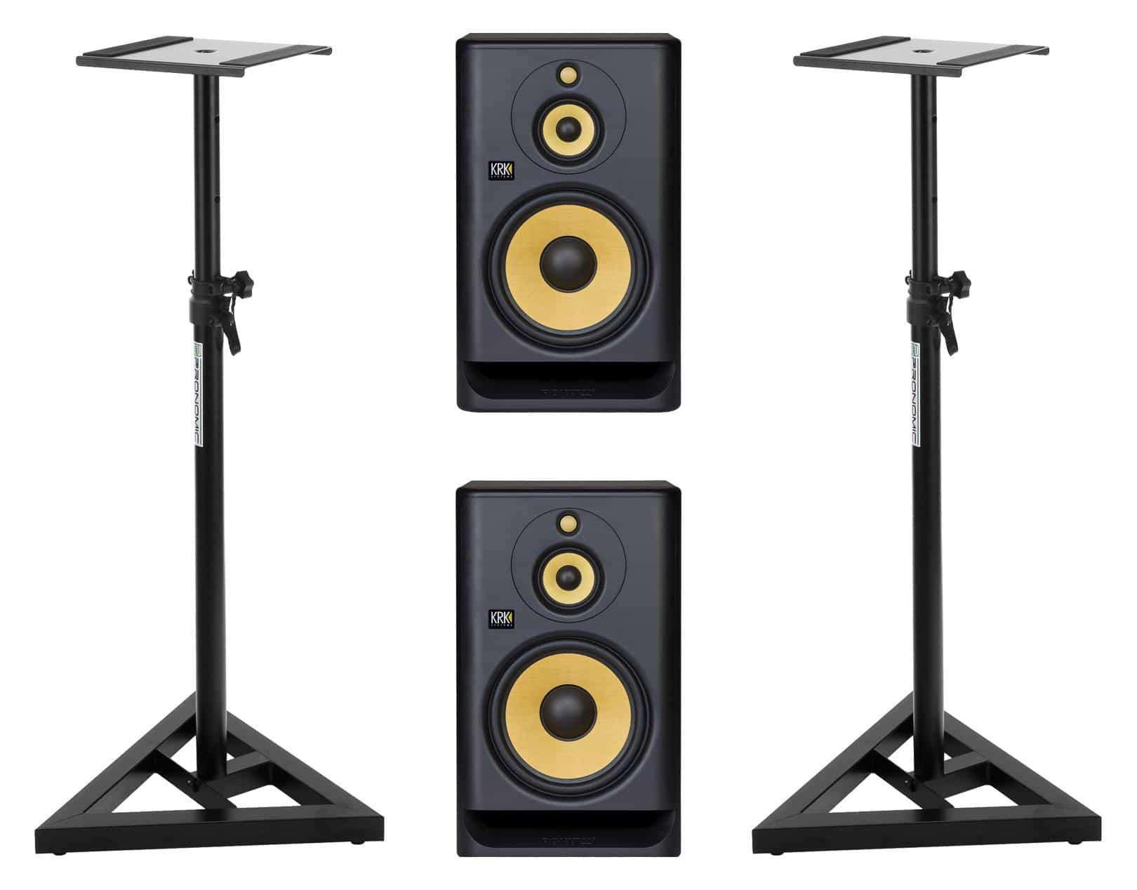 Studiomonitore - KRK ROKIT RP10 3 G4 Stativ Set - Onlineshop Musikhaus Kirstein