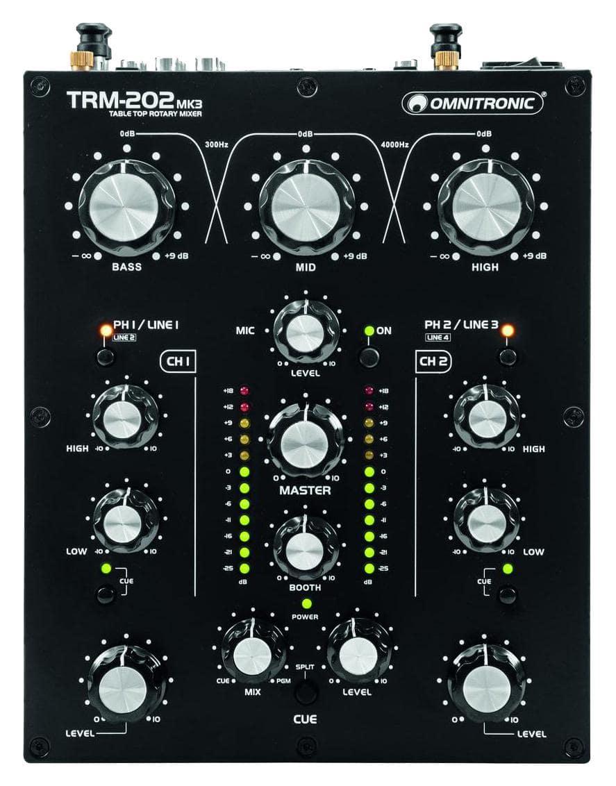 Djmixer - Omnitronic TRM 202MK3 2 Kanal Rotary Mixer - Onlineshop Musikhaus Kirstein