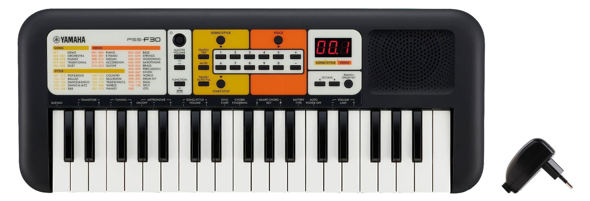 Homekeyboards - Yamaha PSS F30 Keyboard Set inkl. USB Netzteil - Onlineshop Musikhaus Kirstein