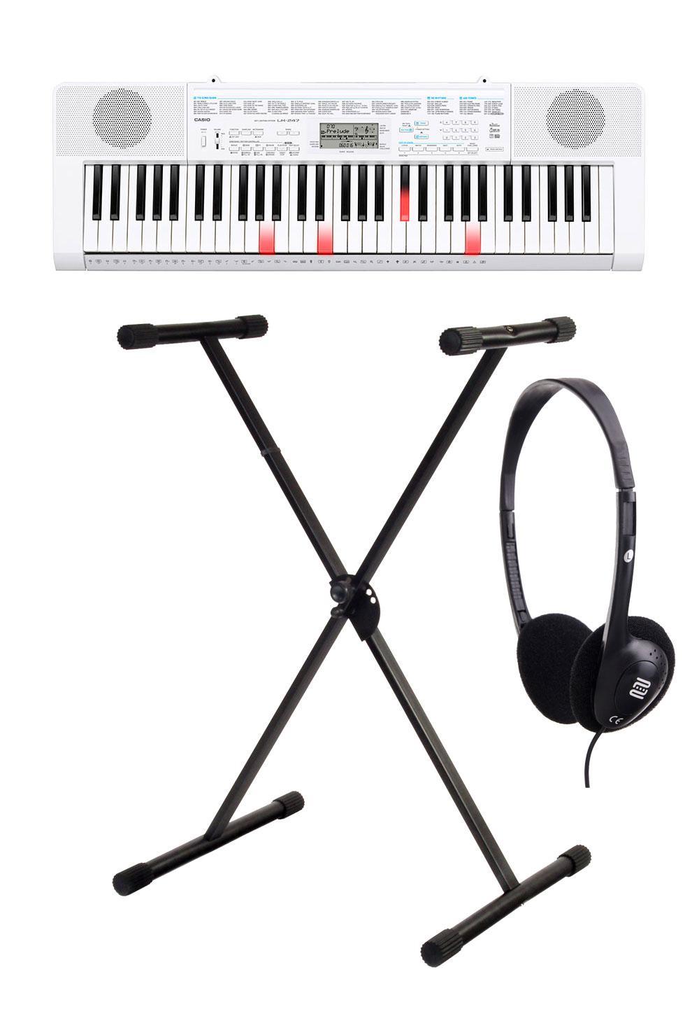 Casio LK 247 Leuchttasten Keyboard SET mit Ständer und Kopfhörer