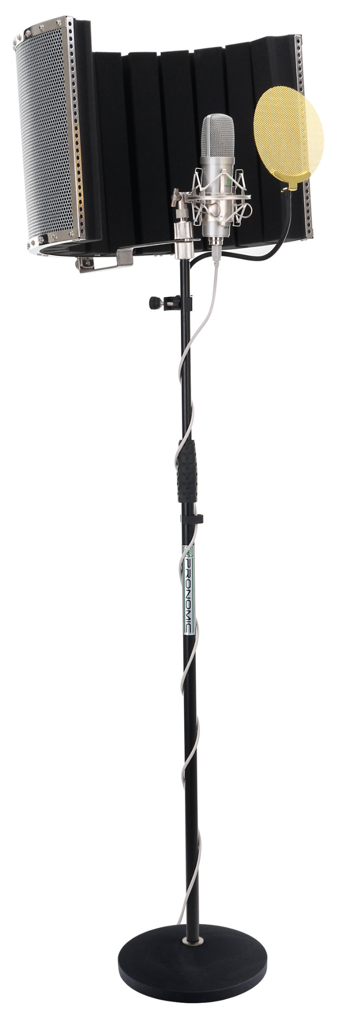 Mikrofone - Pronomic USB M910 Kondensator Mikrofon Komplettset inkl. Stativ, Popschutz gold Micscreen - Onlineshop Musikhaus Kirstein