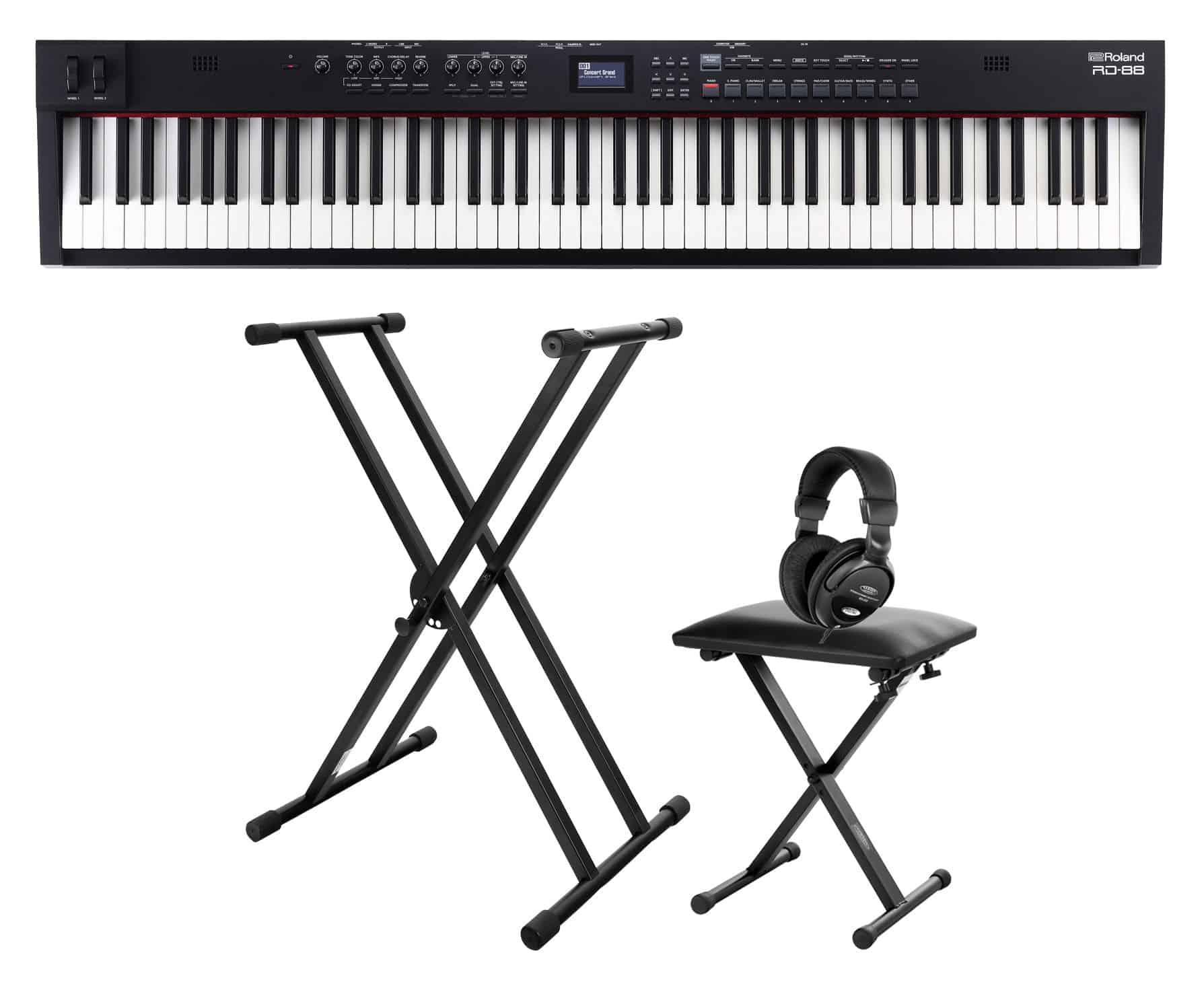 Stagepianos - Roland RD 88 Stagepiano Set - Onlineshop Musikhaus Kirstein
