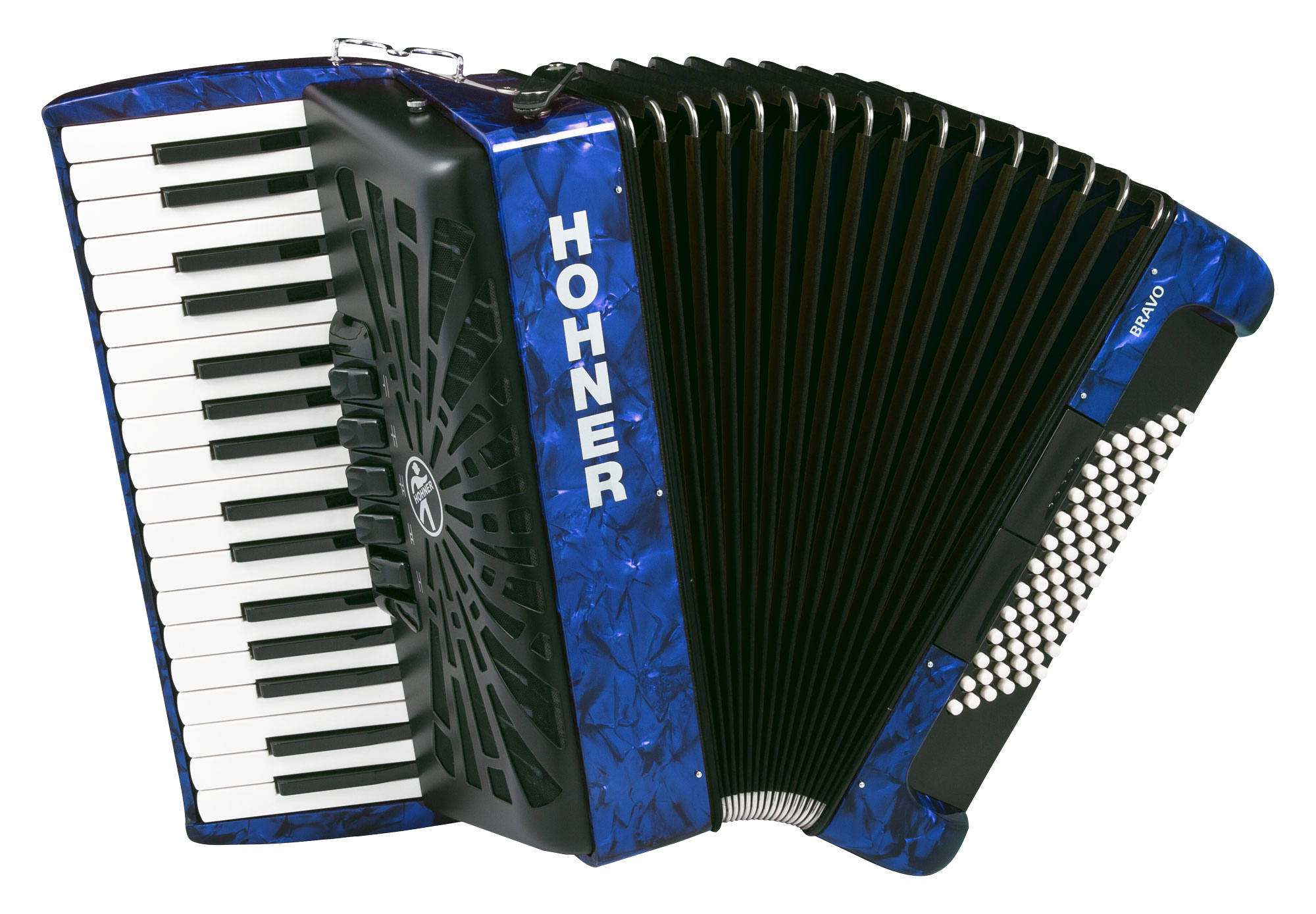 Akkordeons - Hohner Bravo III 72 SilentKey Blau - Onlineshop Musikhaus Kirstein