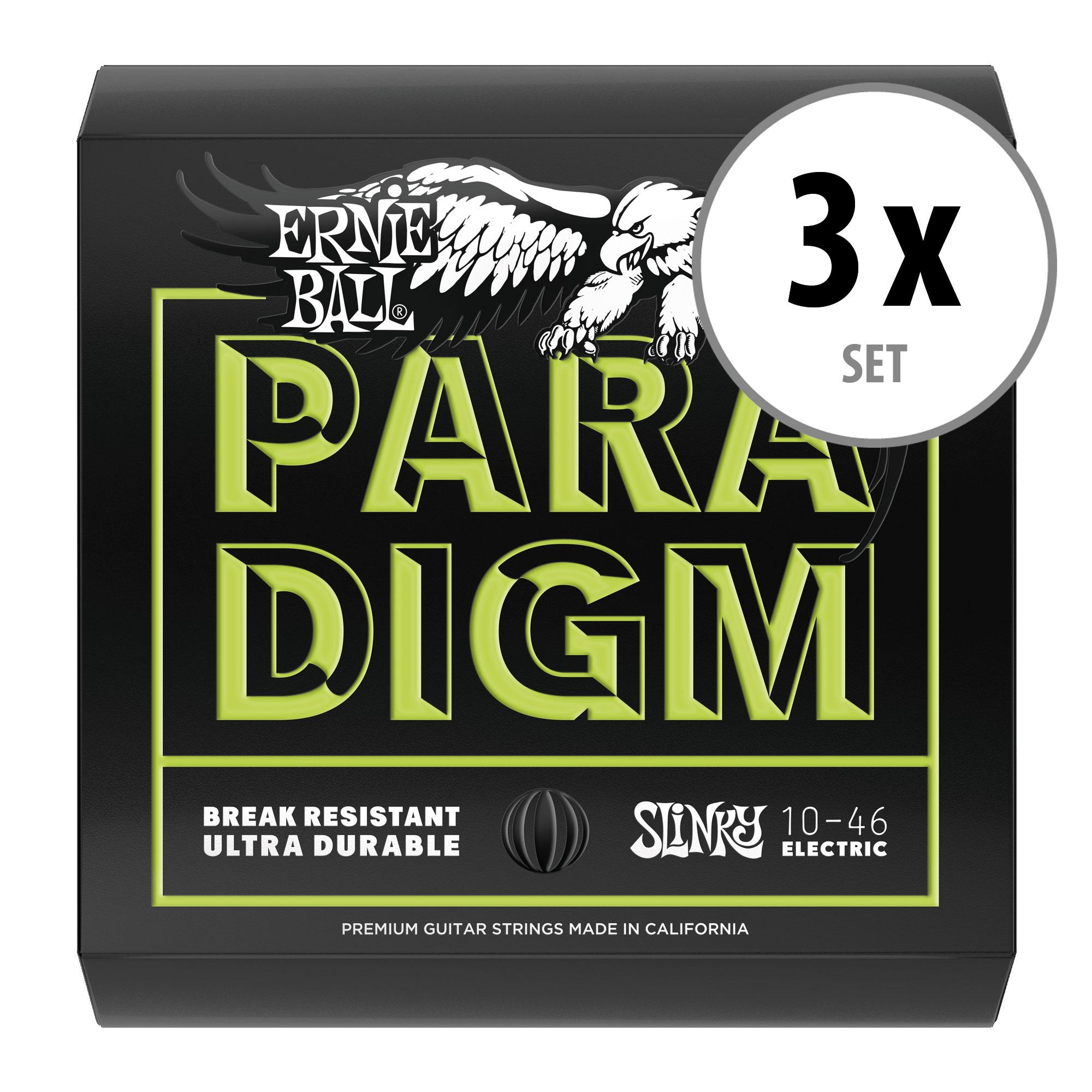 3er Set Ernie Ball 2021 Paradigm Regular Slinky