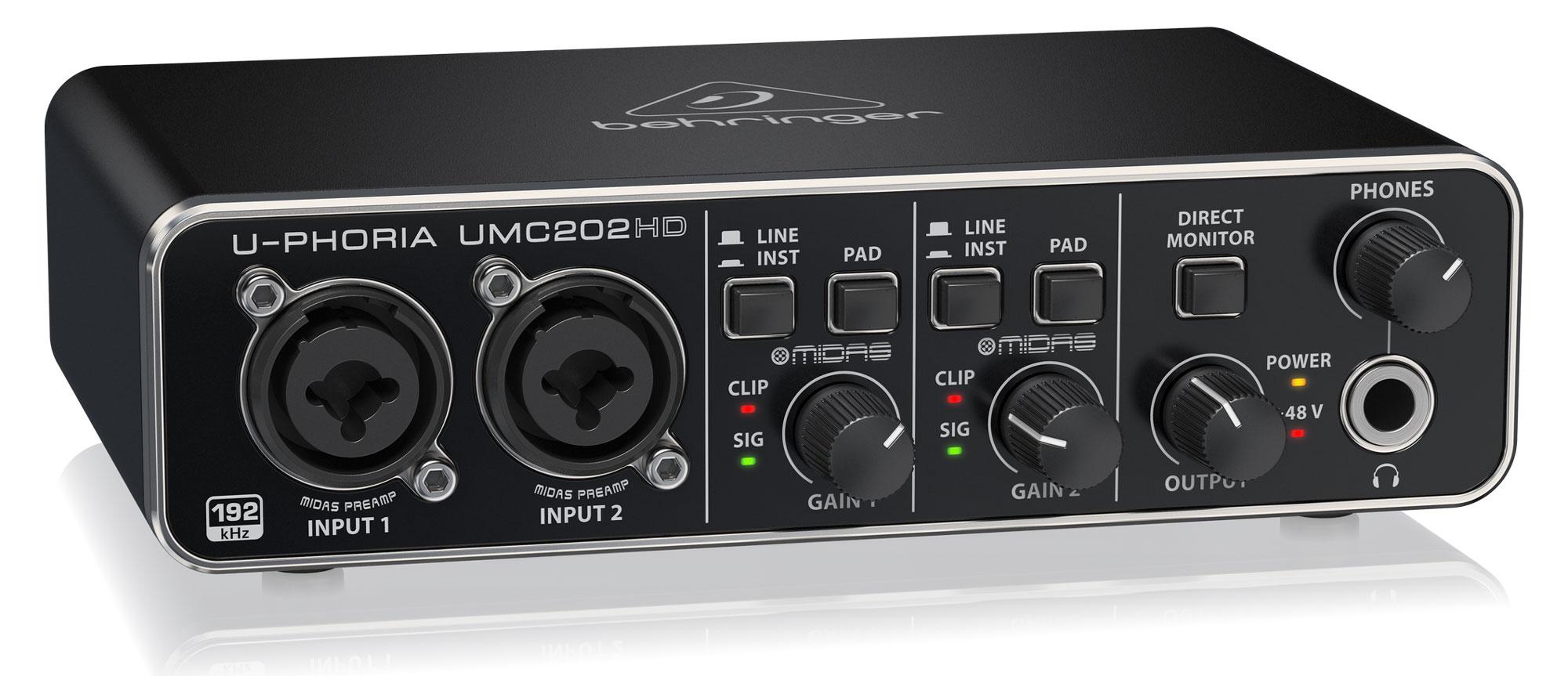 Behringer U Phoria UMC202HD USB Audiointerface