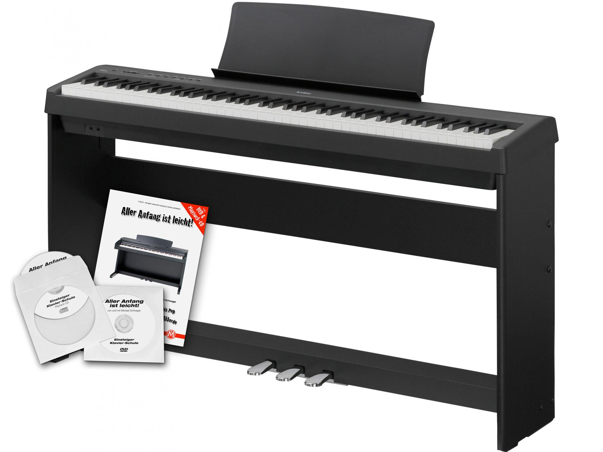 kawai es 100 b stagepiano schwarz home set st nder pedaleinheit. Black Bedroom Furniture Sets. Home Design Ideas