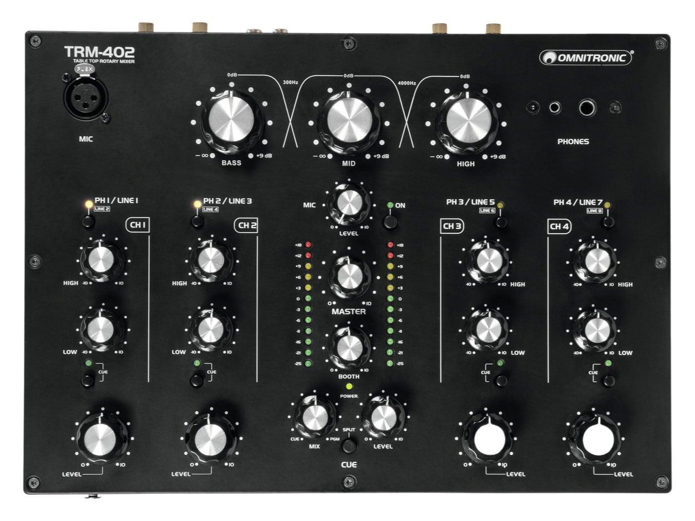 Djmixer - Omnitronic TRM 402 4 Kanal Rotary Mixer - Onlineshop Musikhaus Kirstein