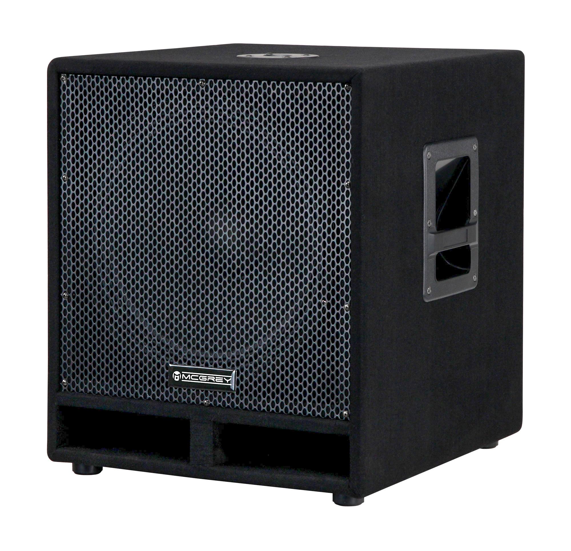 mcgrey pas 115 15 passiver pa subwoofer bass lautsprecher box 1200 watt retoure zustand gut. Black Bedroom Furniture Sets. Home Design Ideas