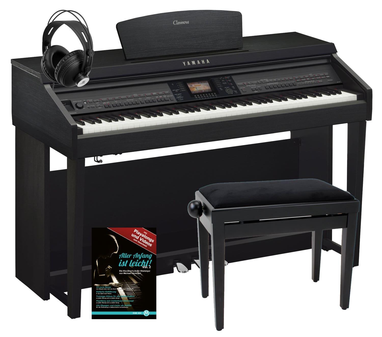 Yamaha CVP 701 B Clavinova Digitalpiano Schwarz Matt SET inkl. Bank Kopfhörer Klavierschule