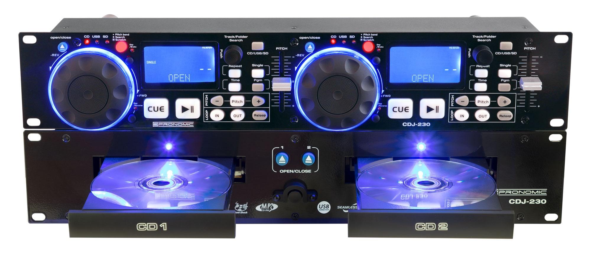 Pronomic CDJ 230 Doppel DJ CD Player mit USB SD