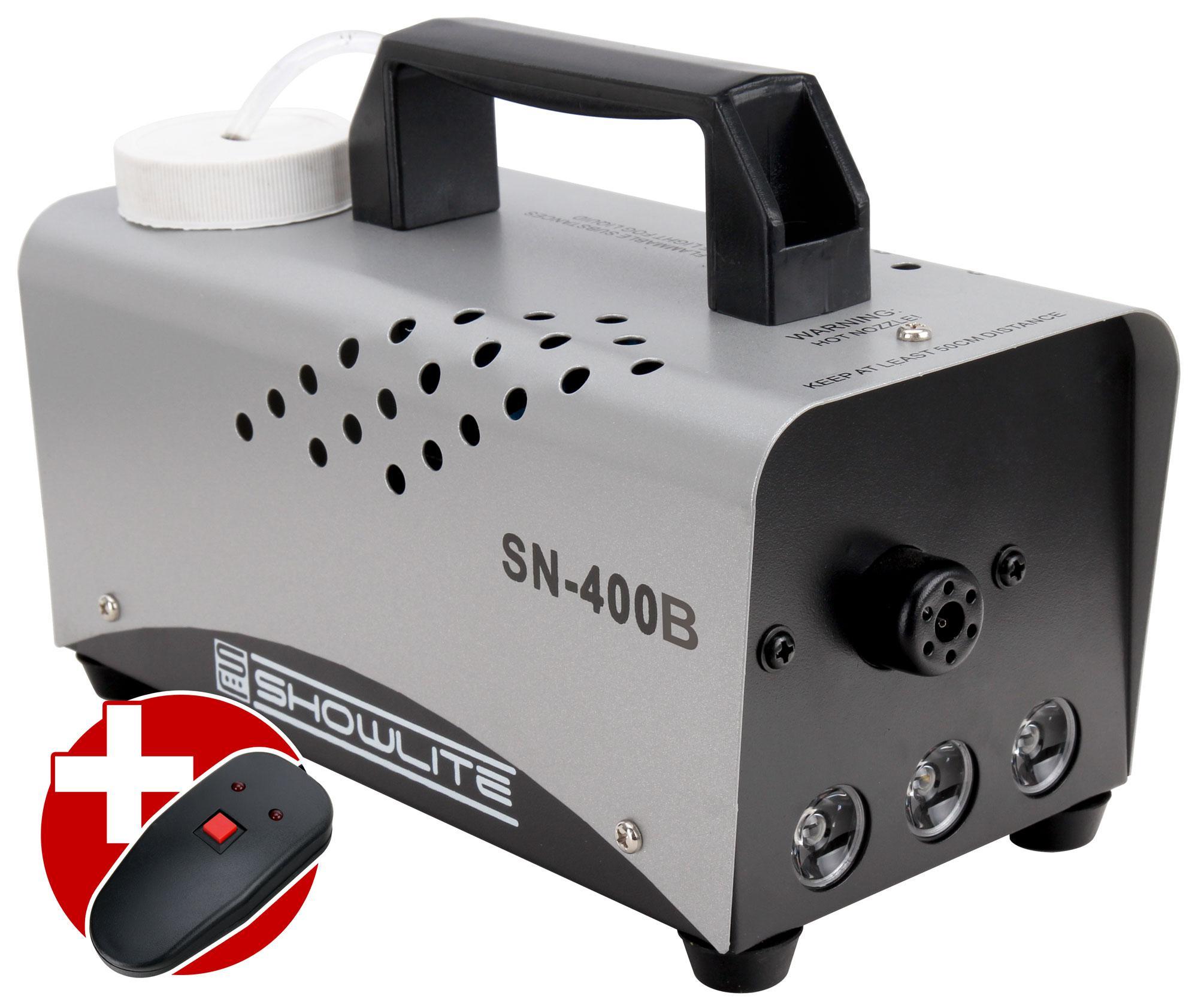 Showlite SN 400B LED Nebelmaschine blau 400W inkl. Fernbedienung