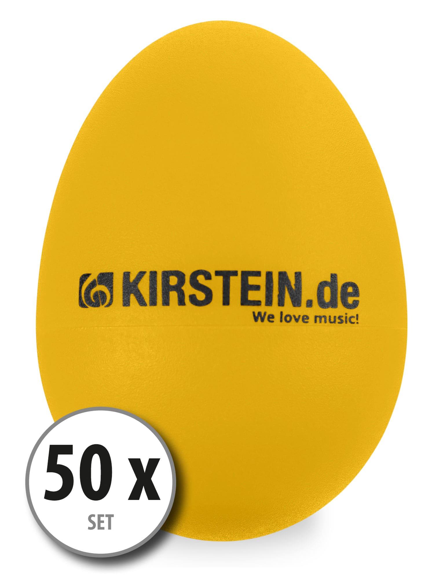 50x Kirstein ES 10Y Egg Shaker gelb Heavy Set