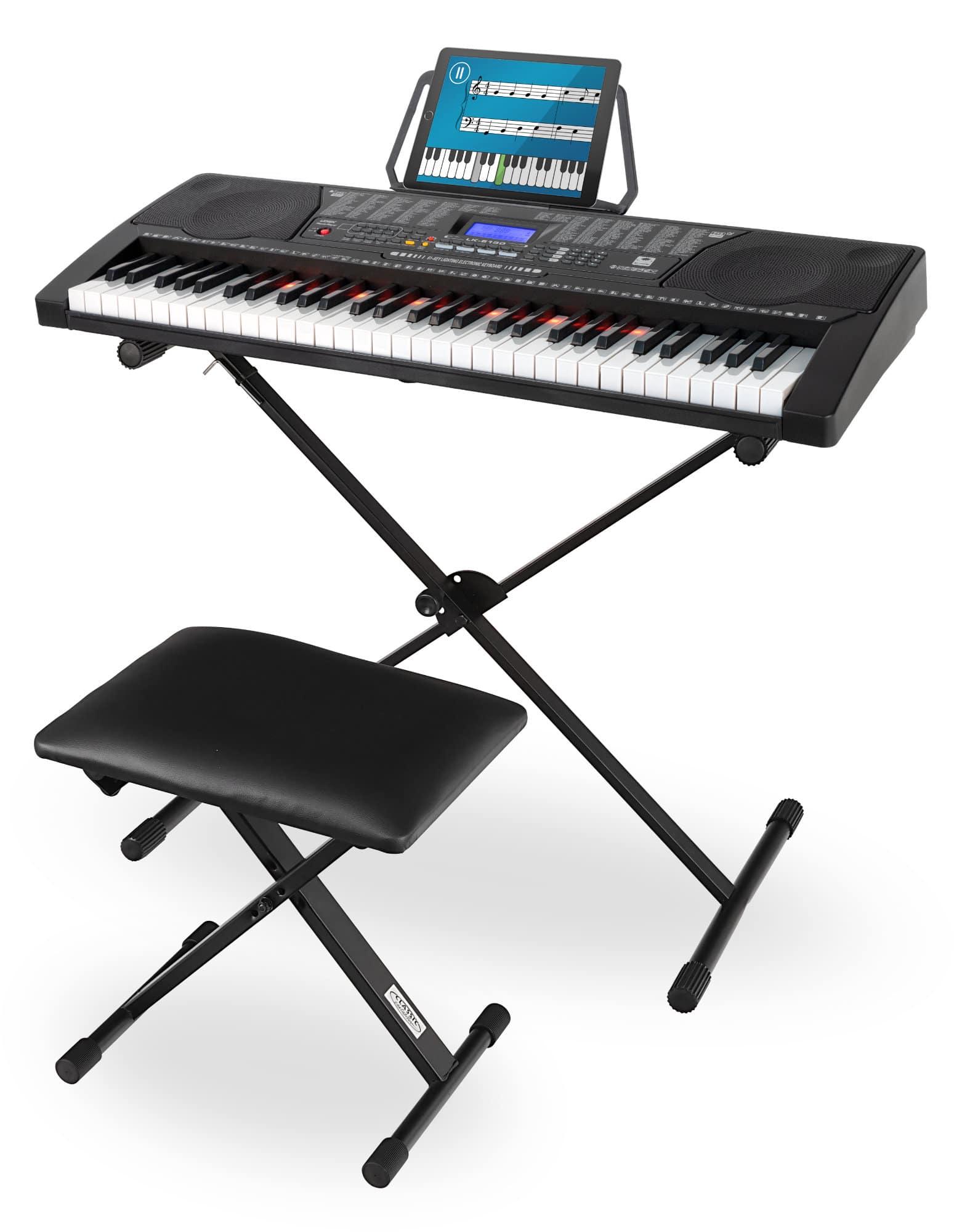 Homekeyboards - McGrey LK 6150 61 Tasten Leuchttasten Keyboard Set - Onlineshop Musikhaus Kirstein