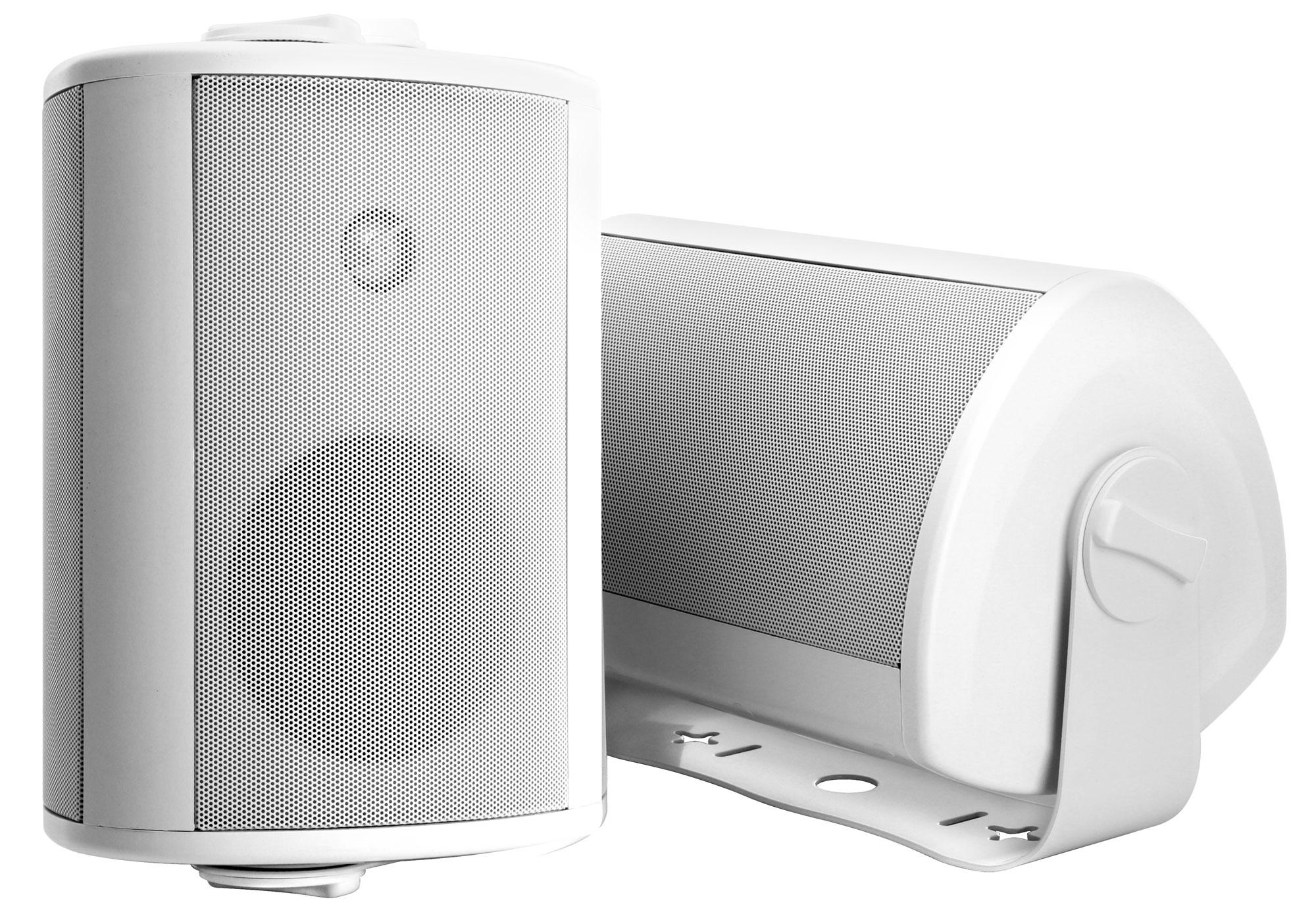 paar pronomic ols 10 wh outdoor lautsprecher wei 2x 120 watt. Black Bedroom Furniture Sets. Home Design Ideas