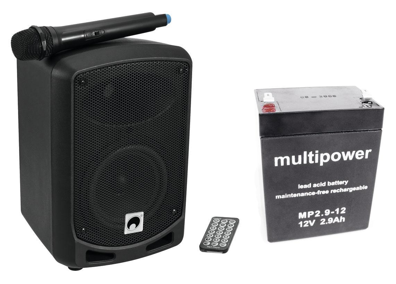 Omnitronic WAMS 065BT Wireless Aktivbox im SET mit Akku