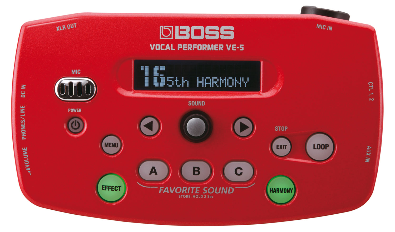 Boss VE 5 Vocal Performer Rot