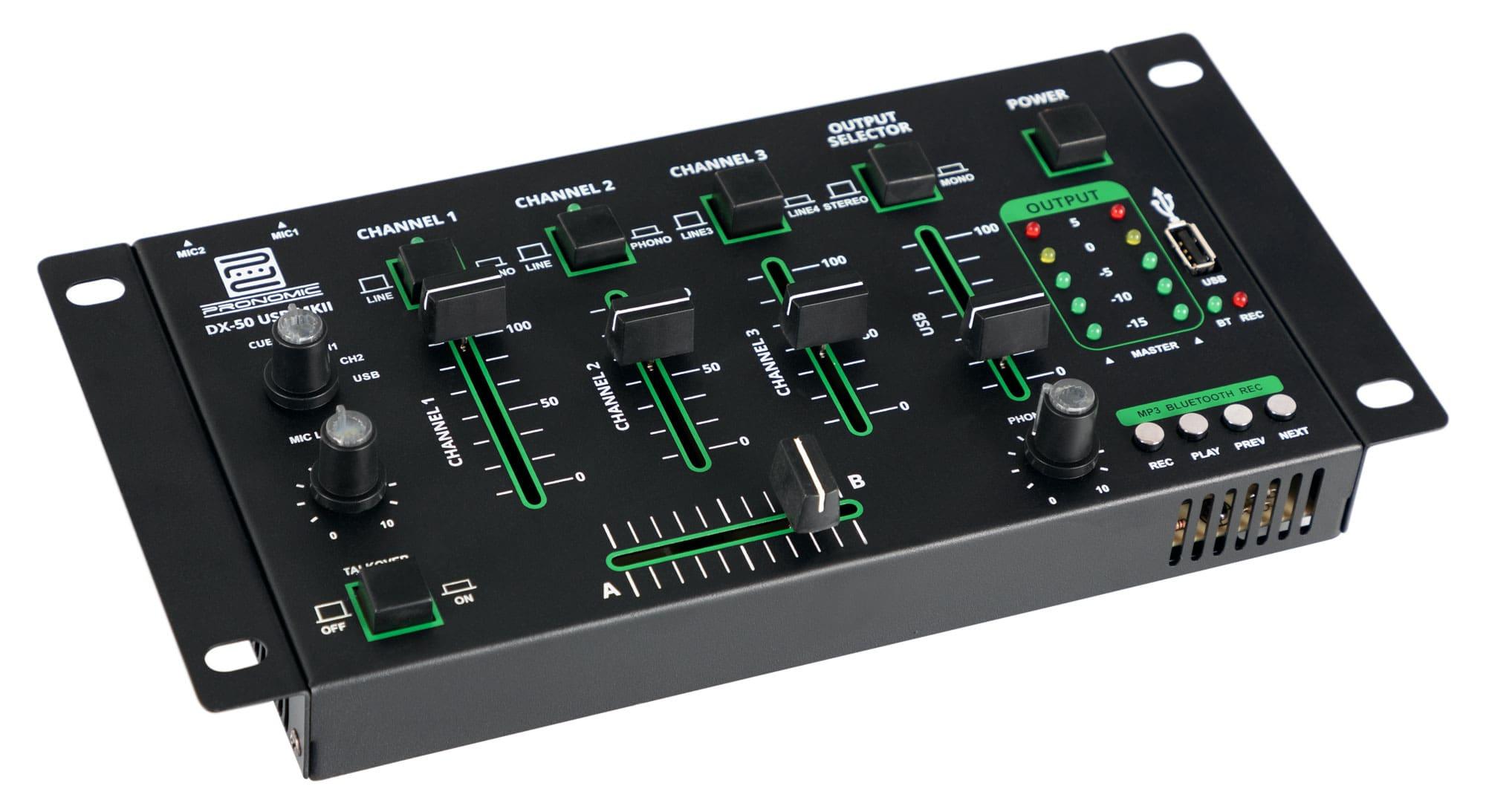 Pronomic DX 50 USB MKII 4 Kanal DJ Mixer mit Bluetooth