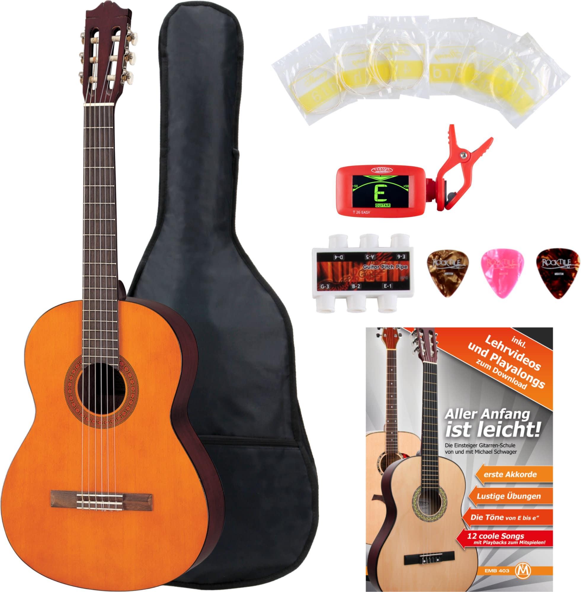 yamaha c40 konzertgitarre set inkl zubeh rset tuner. Black Bedroom Furniture Sets. Home Design Ideas
