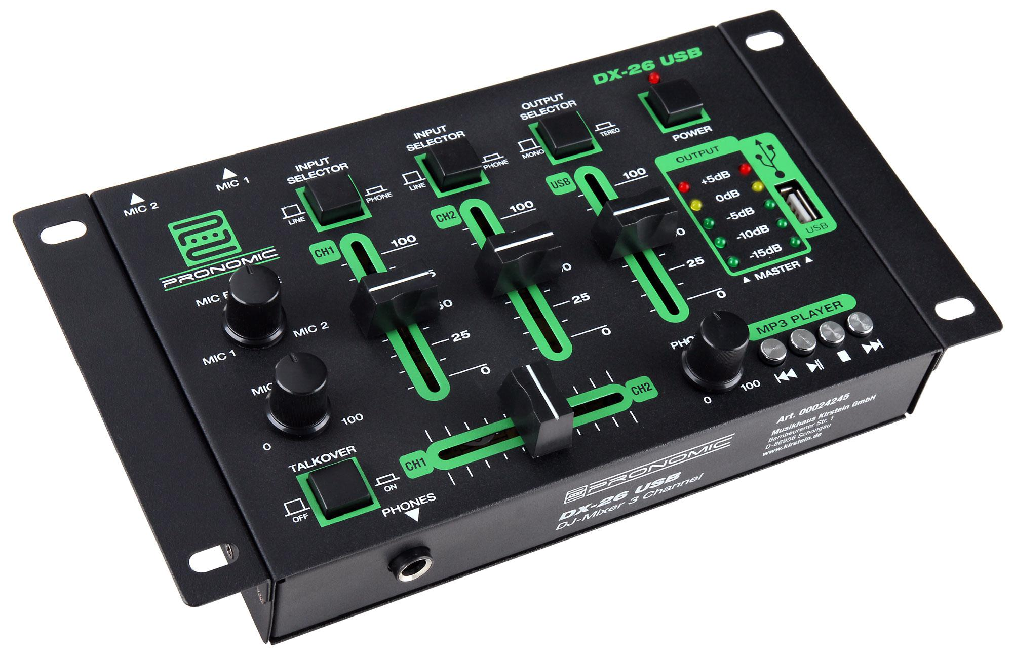 Pronomic DX 26 USB DJ Mixer