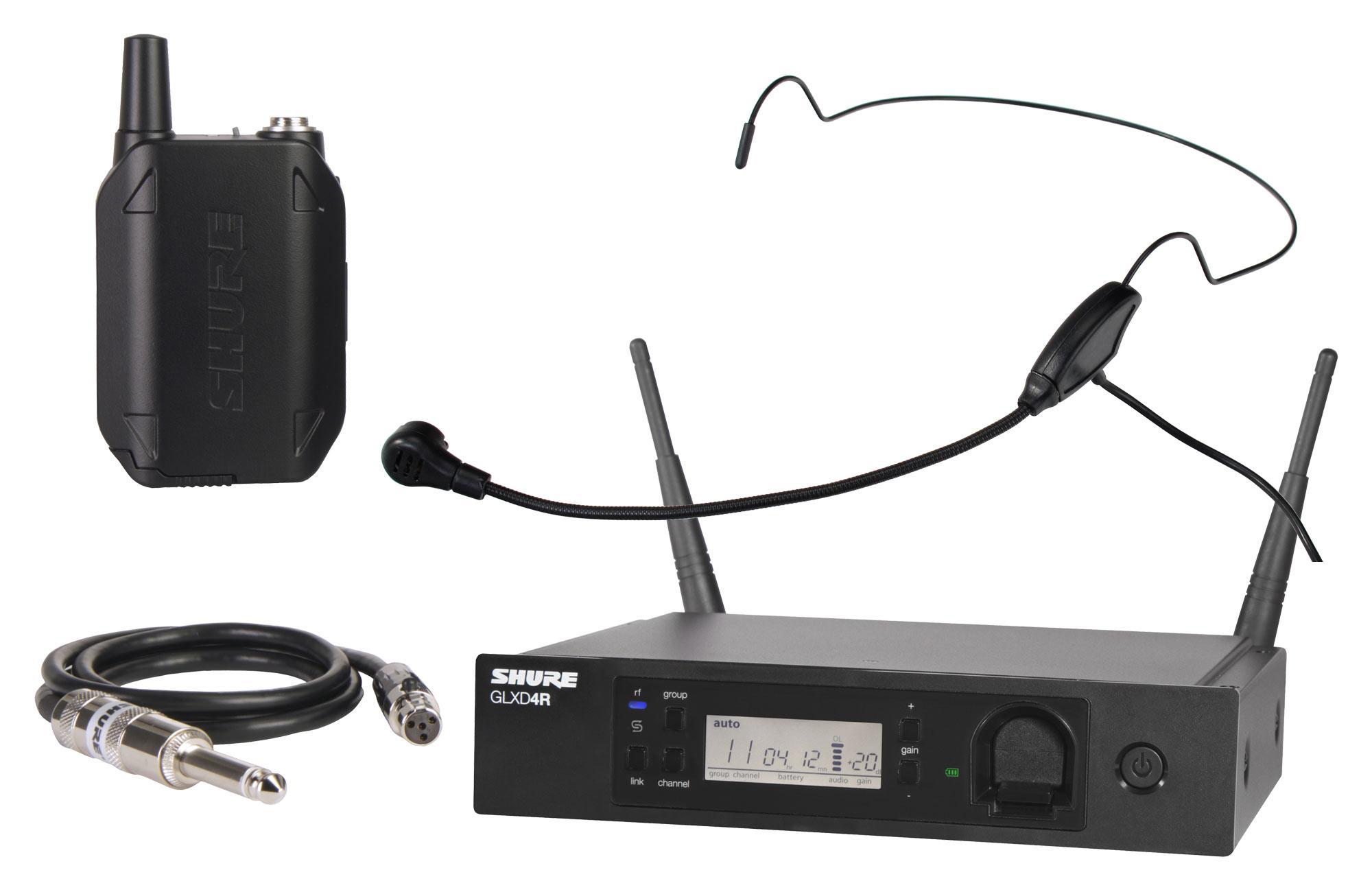 Shure GLXD14R Digital Funksystem Set inkl. HS 65 Headsetmikrofon